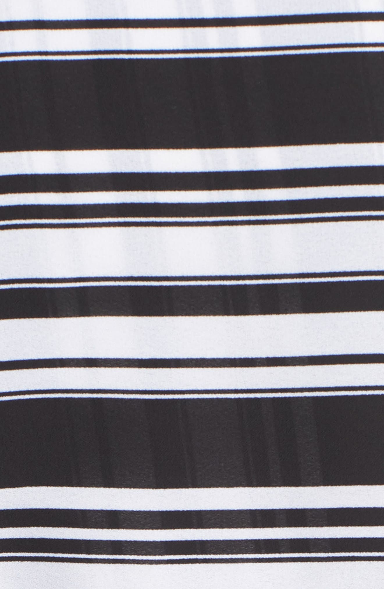Stripe It Lucky Top,                             Alternate thumbnail 6, color,                             BLACK STRIPE