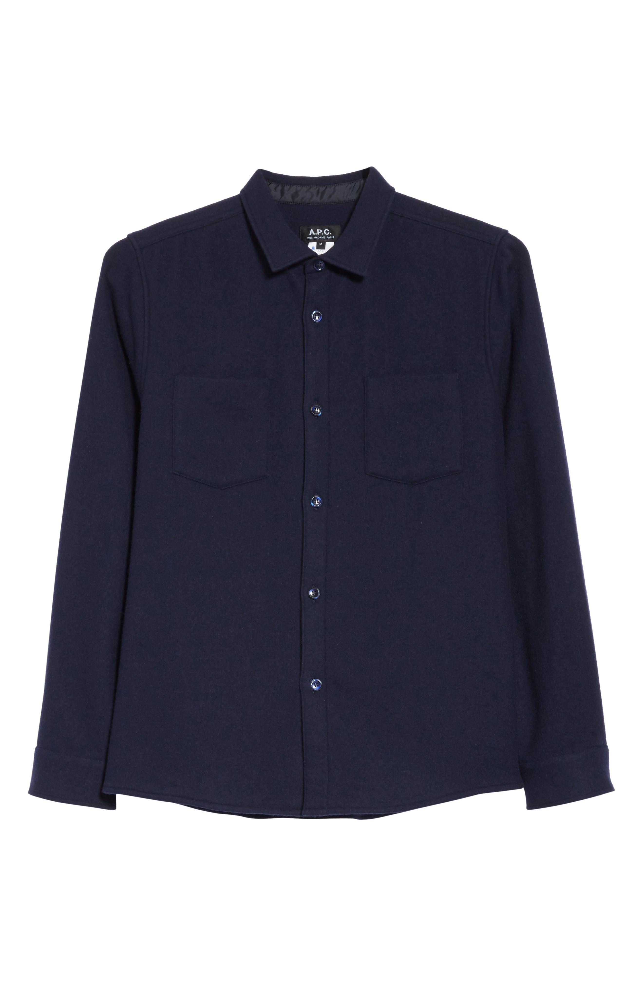 Fritz Wool Blend Shirt Jacket,                             Alternate thumbnail 5, color,                             410