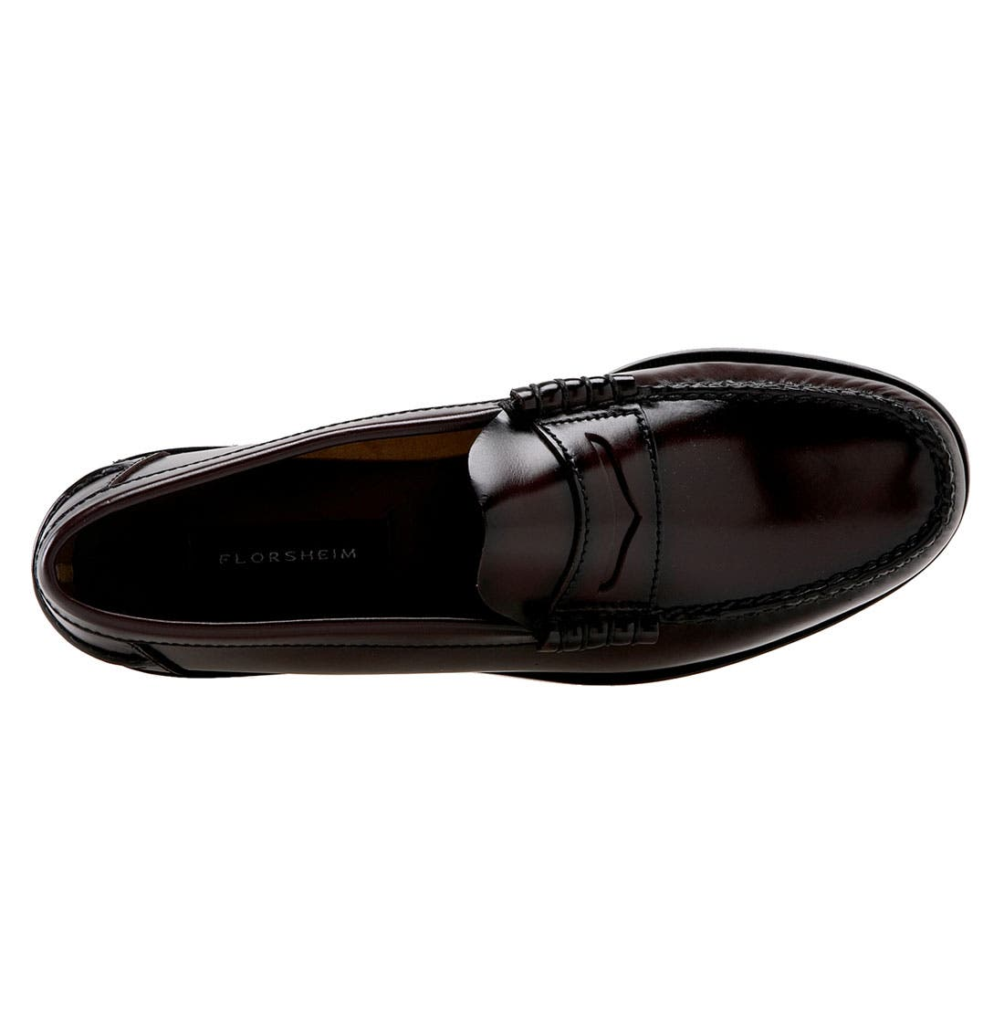 'Berkley' Penny Loafer,                             Alternate thumbnail 4, color,                             BURGUNDY