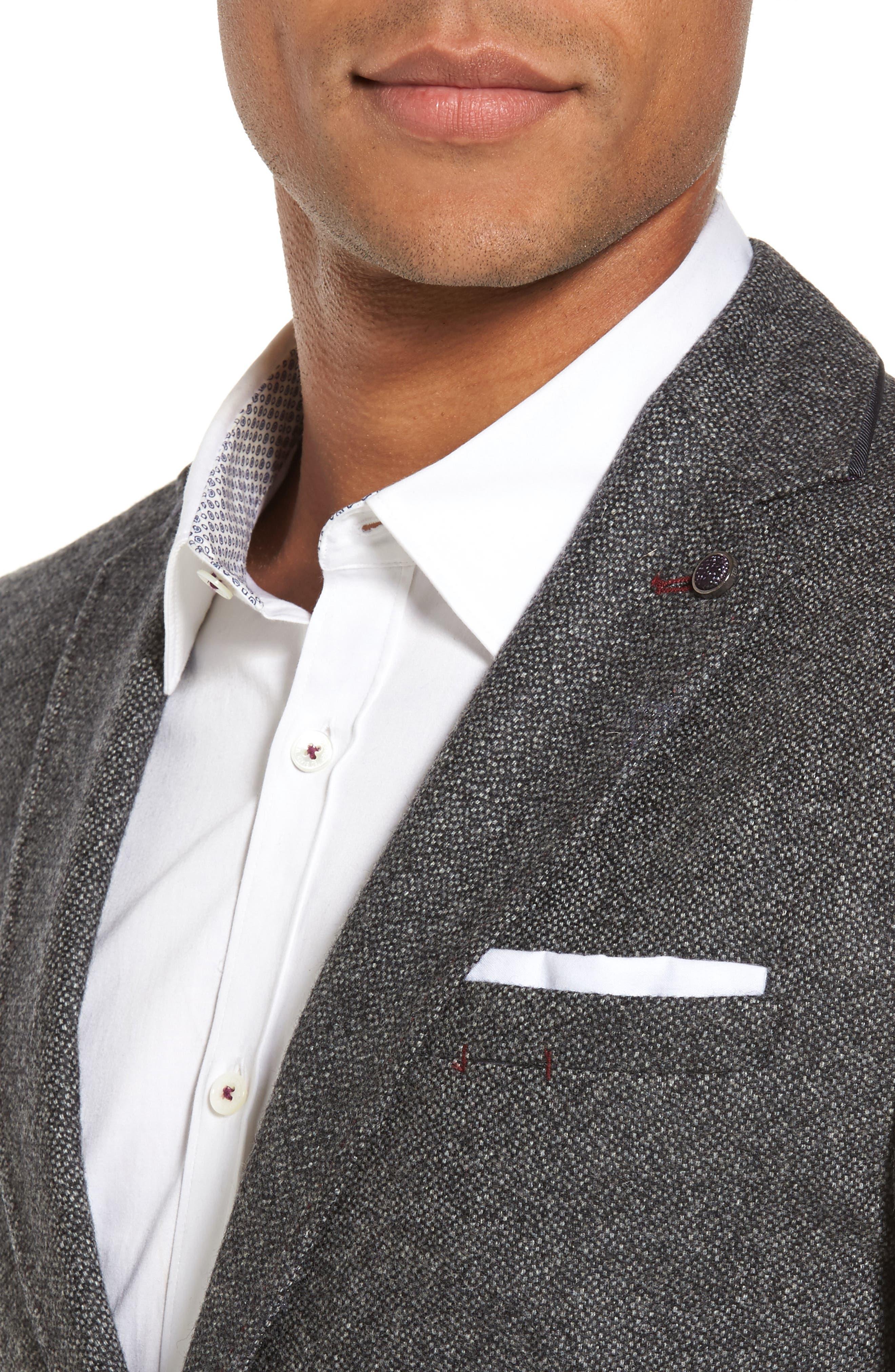 Modern Slim Fit Textured Blazer,                             Alternate thumbnail 4, color,                             010