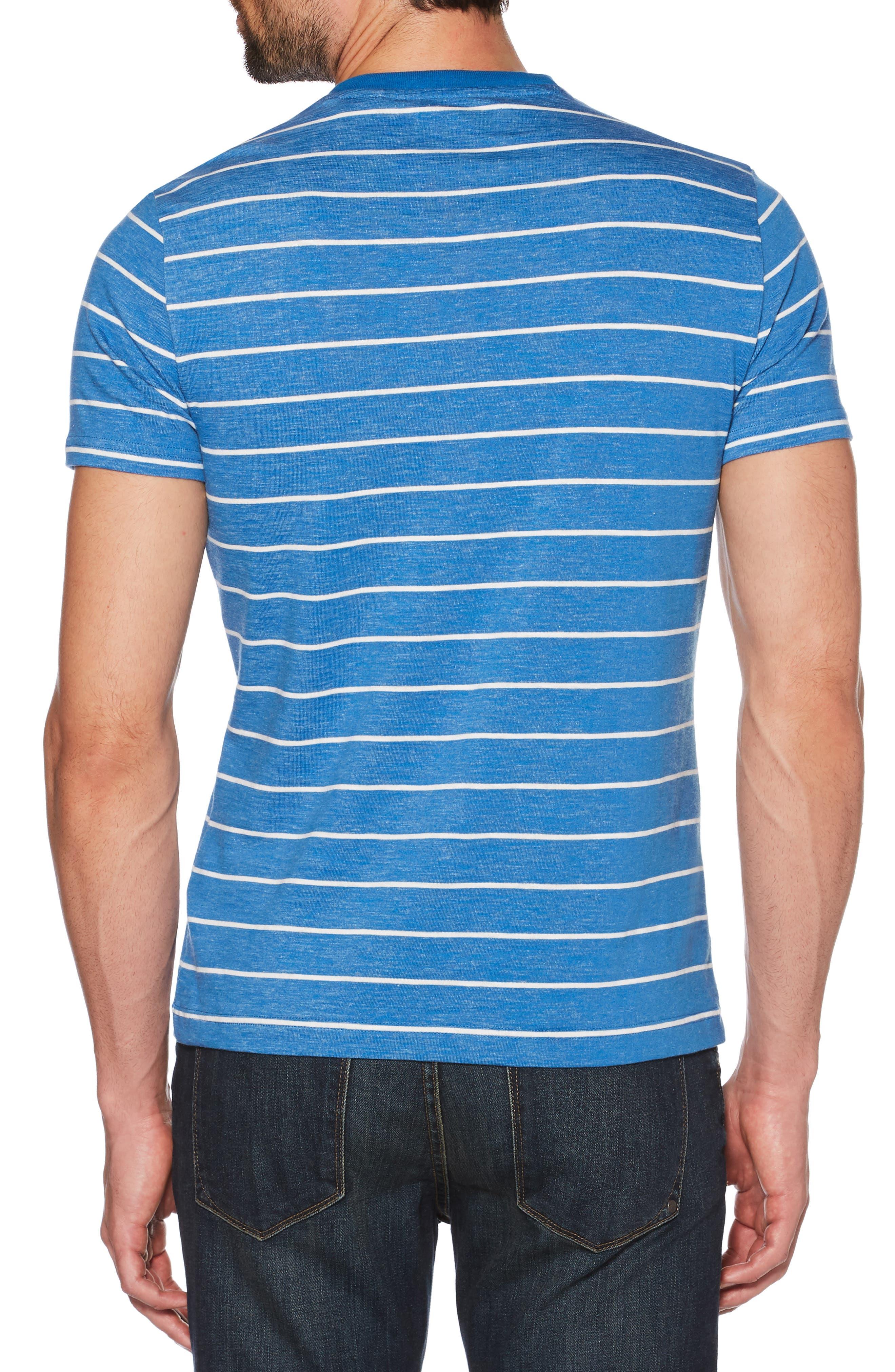 Slim Fit Feeder Striped T-Shirt,                             Alternate thumbnail 2, color,                             CLASSIC BLUE