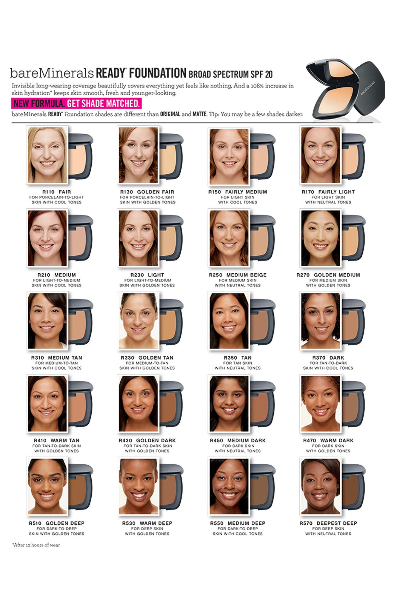 READY Foundation SPF 20,                             Alternate thumbnail 21, color,