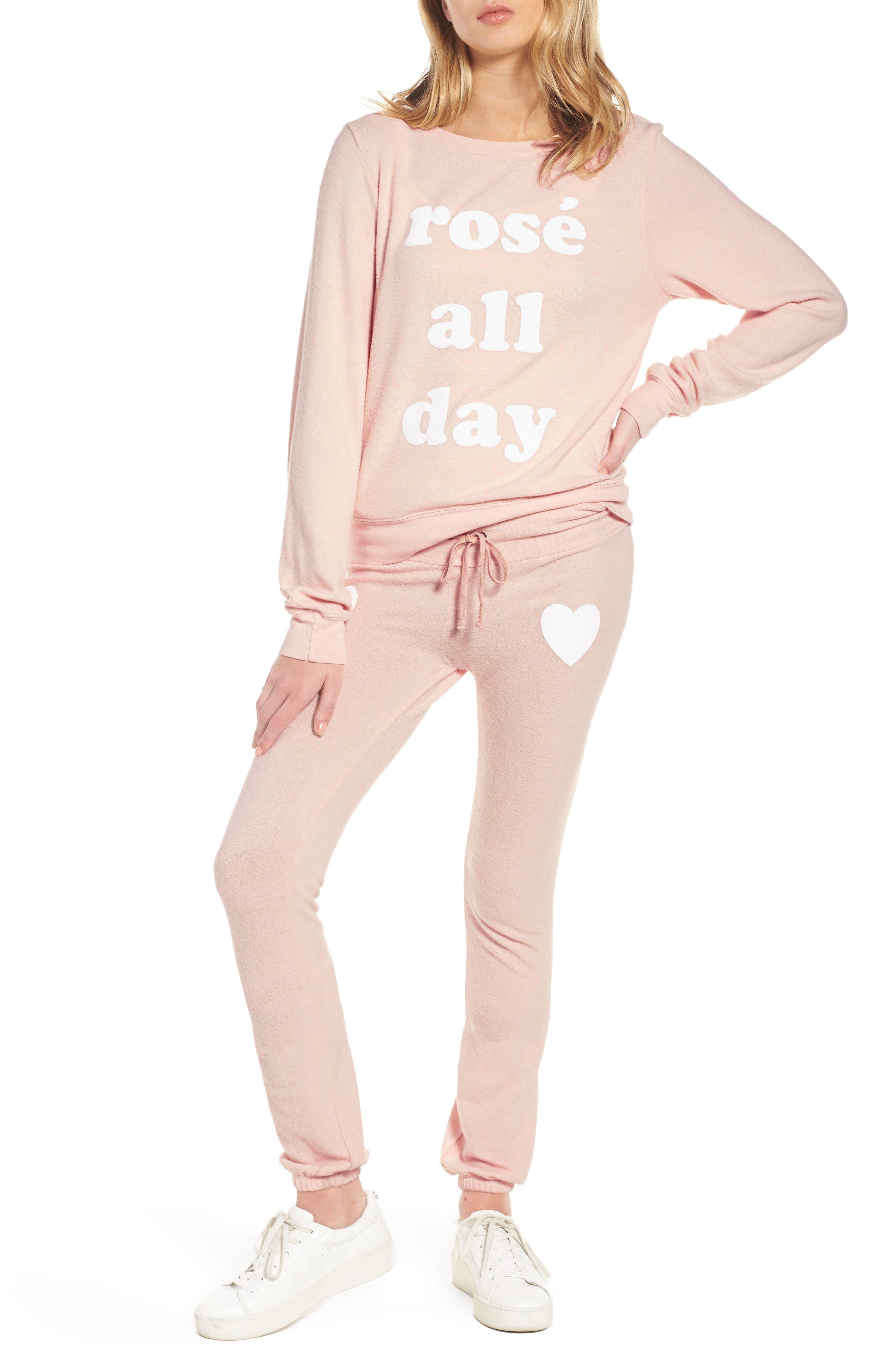 Rosé All Day Skinny Pants,                             Alternate thumbnail 7, color,                             650