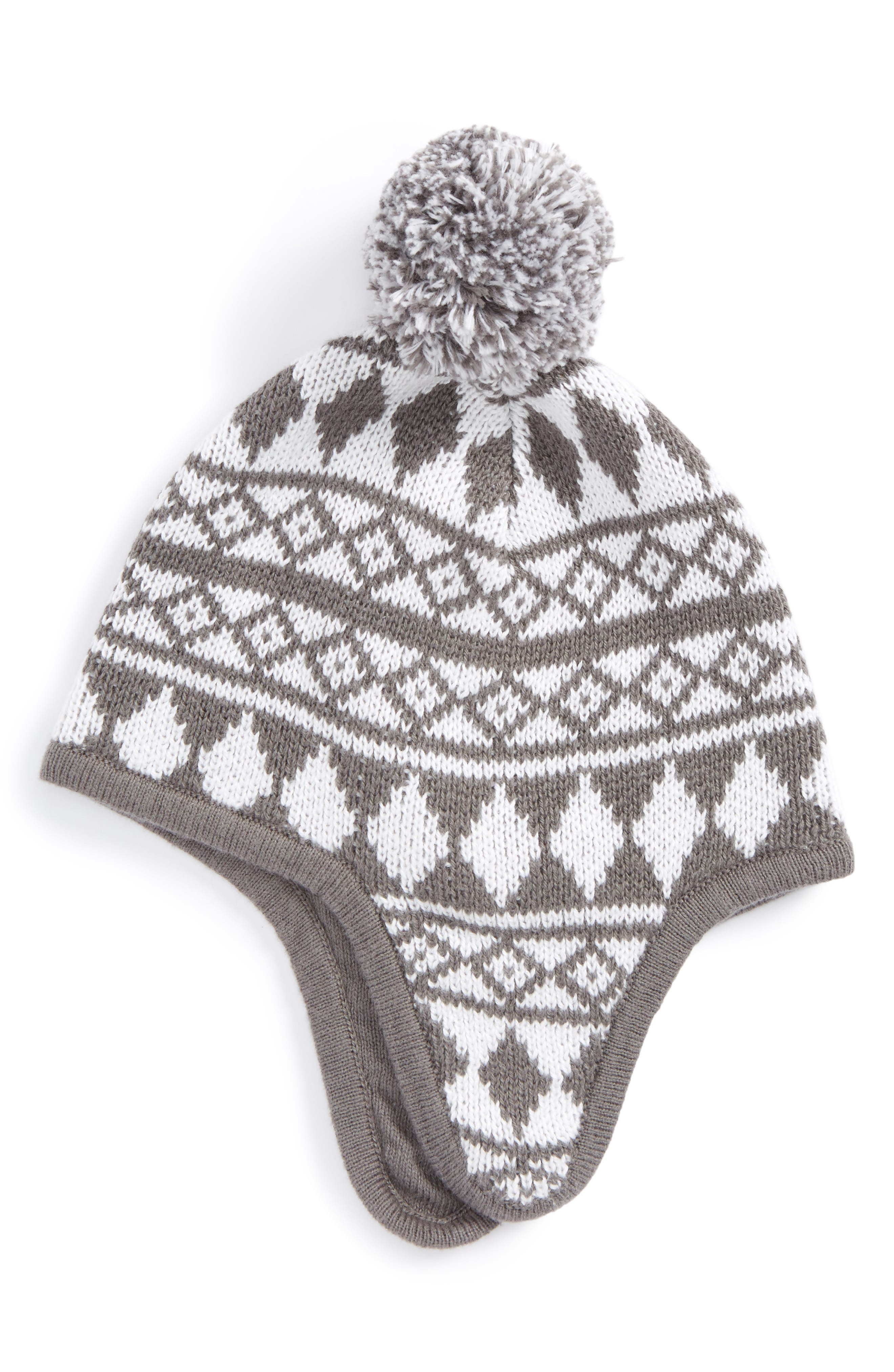 Fair Isle Earflap Hat,                         Main,                         color,
