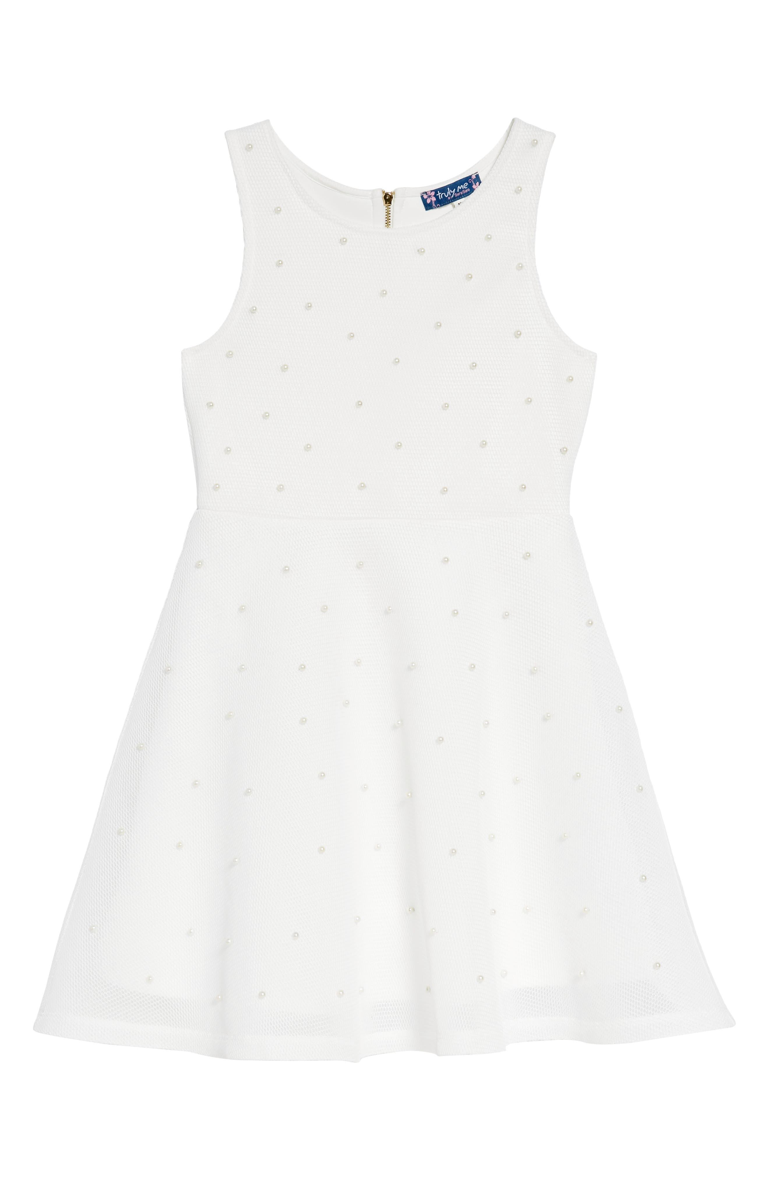 Fit & Flare Dress,                             Main thumbnail 1, color,                             100