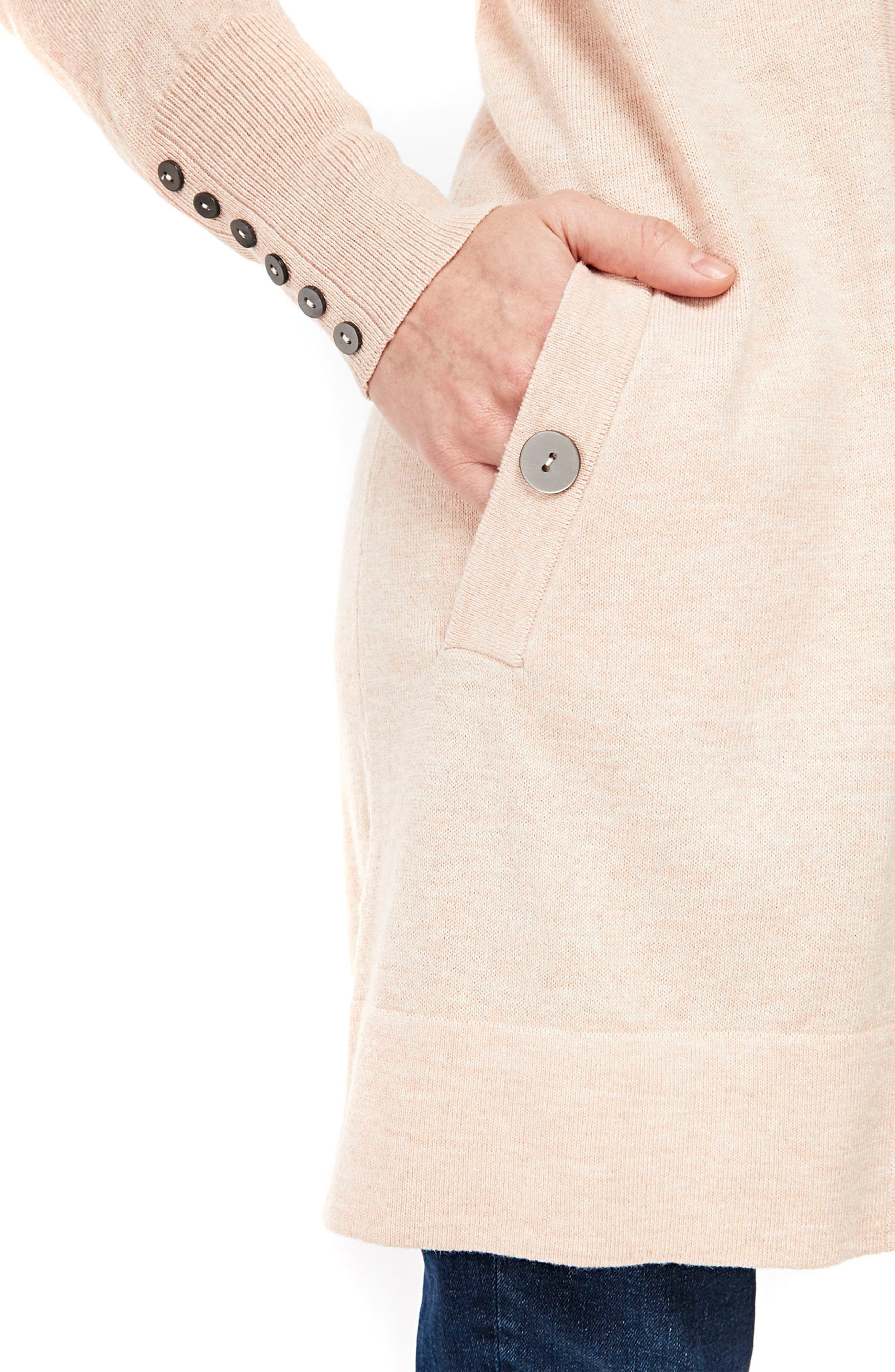 Button Detail Long Cardigan,                             Alternate thumbnail 3, color,                             650