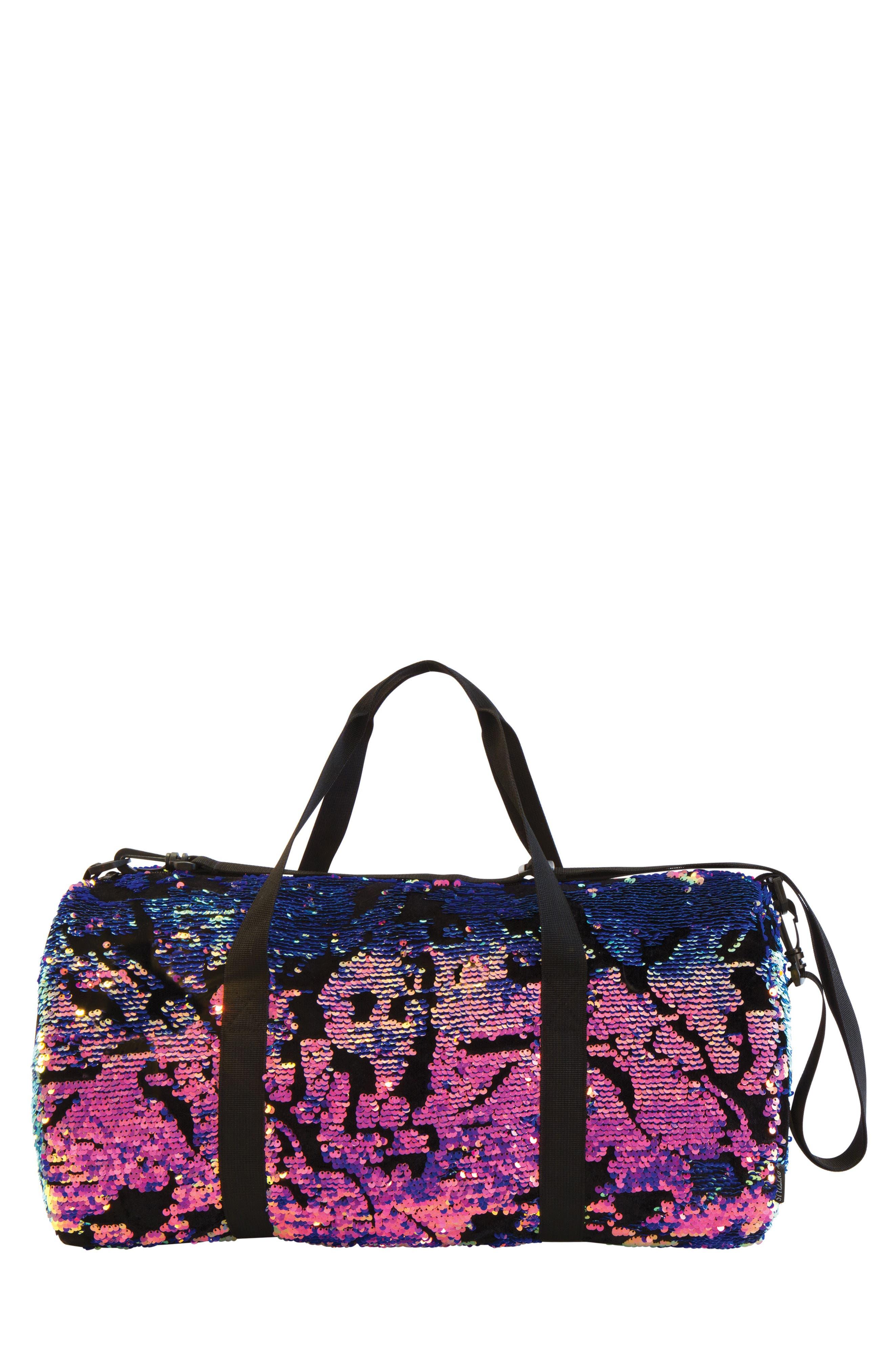 Girls Fashion Angels Magic Sequin  Velvet Duffel Bag