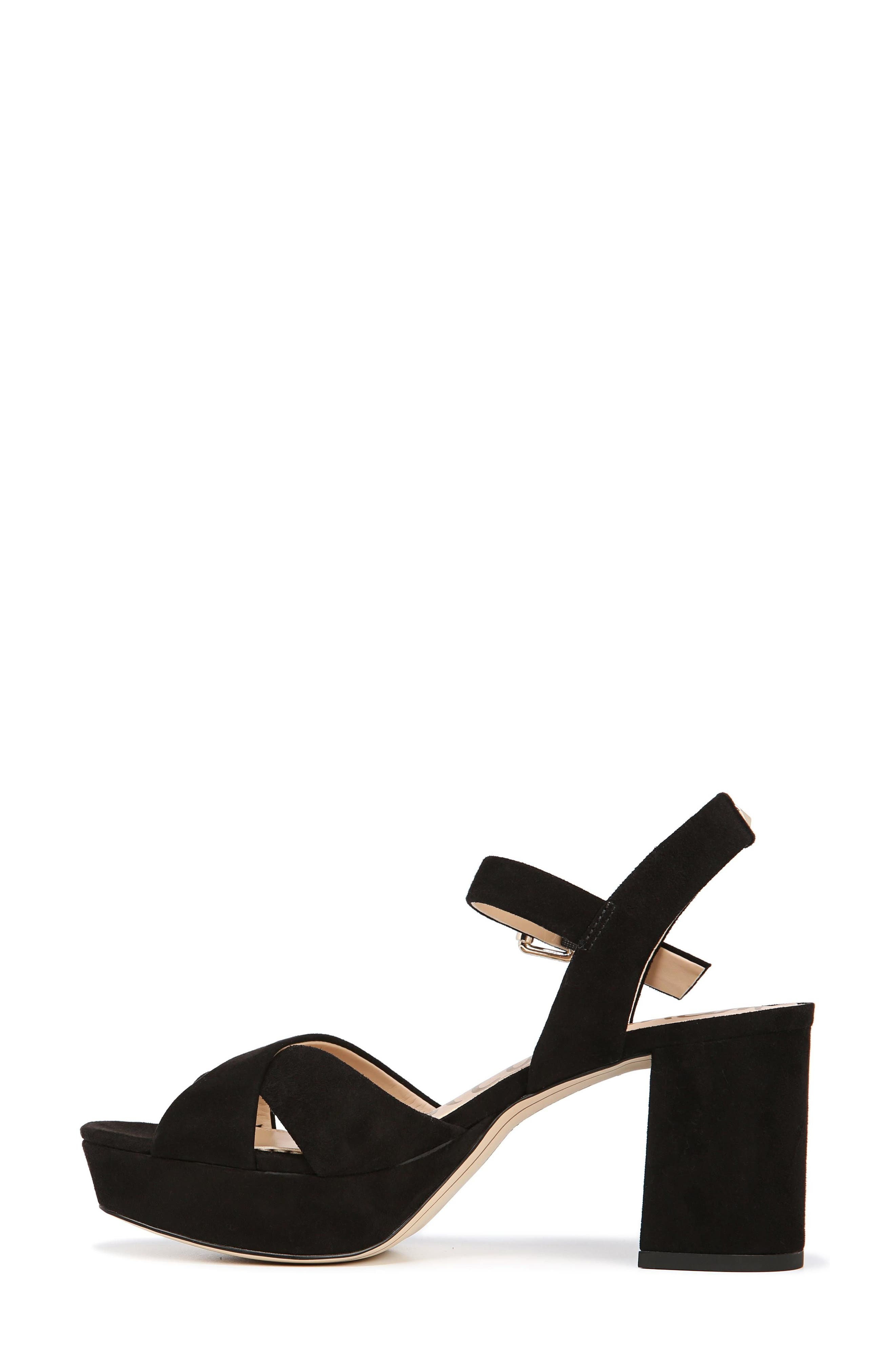 Jolene Platform Sandal,                             Alternate thumbnail 9, color,                             BLACK SUEDE