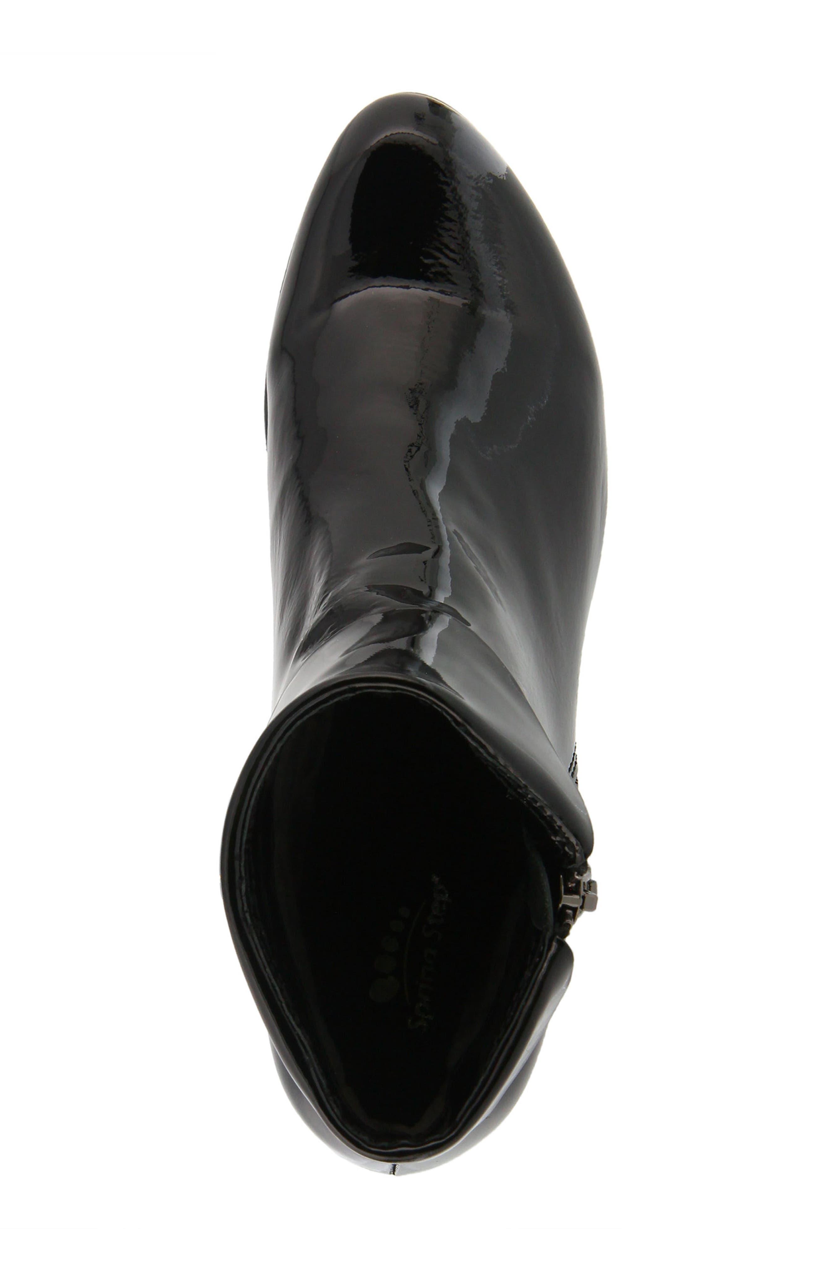 'Stockholm' Boot,                             Alternate thumbnail 4, color,                             BLACK PATENT LEATHER