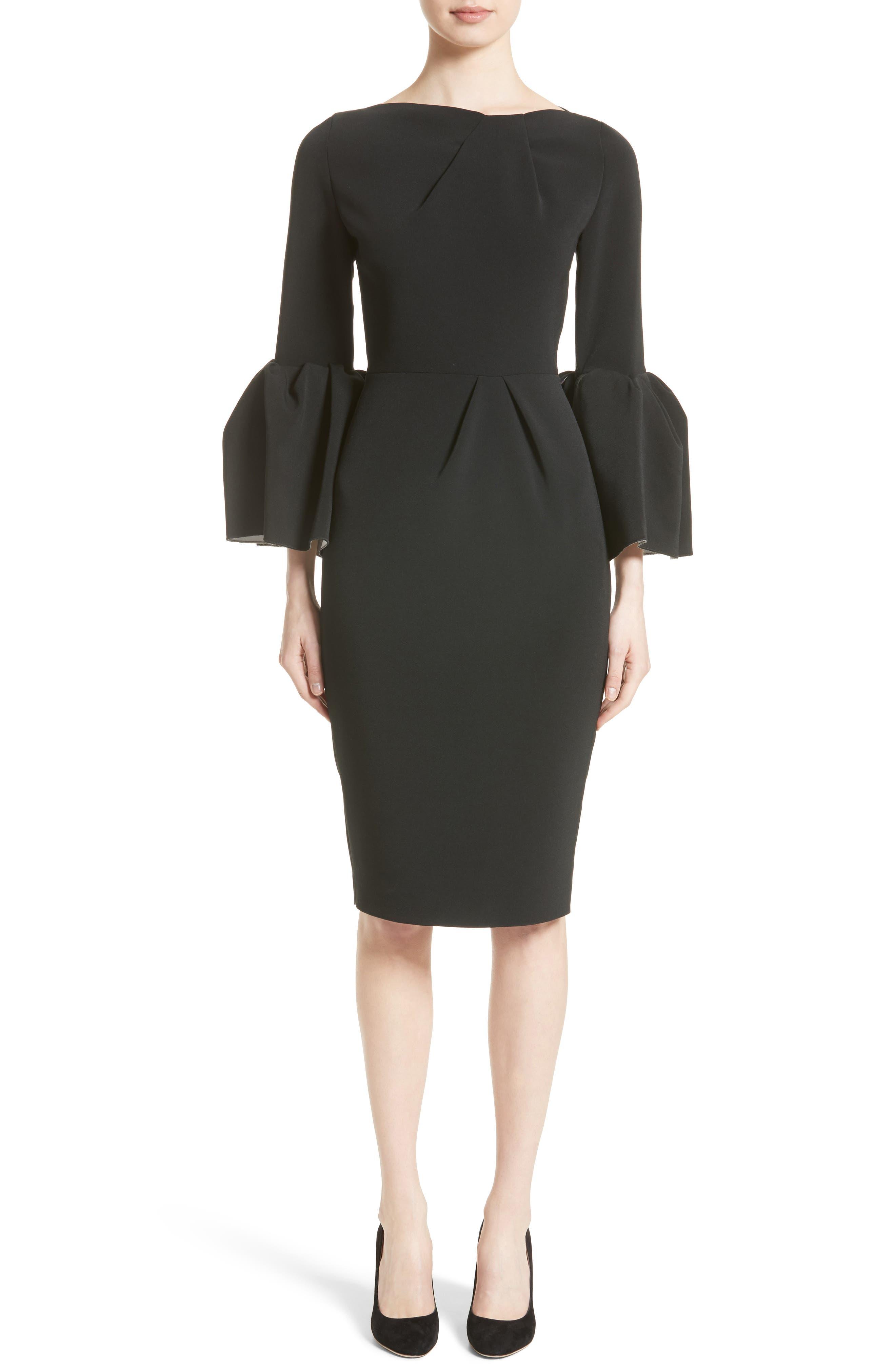 Margot Dress,                         Main,                         color, BLACK/IVORY