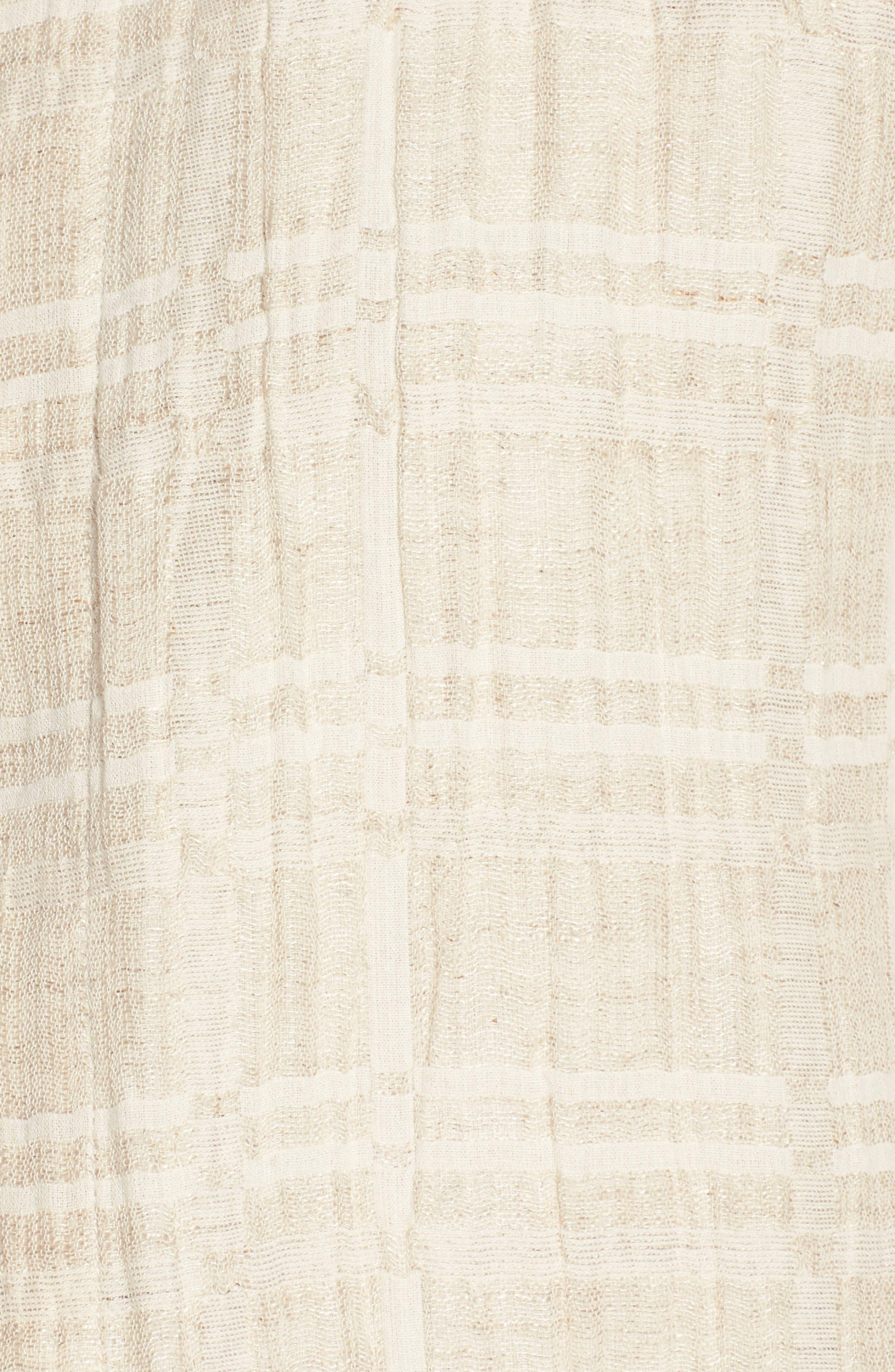 Check Organic Cotton & Linen Jacket,                             Alternate thumbnail 7, color,                             257