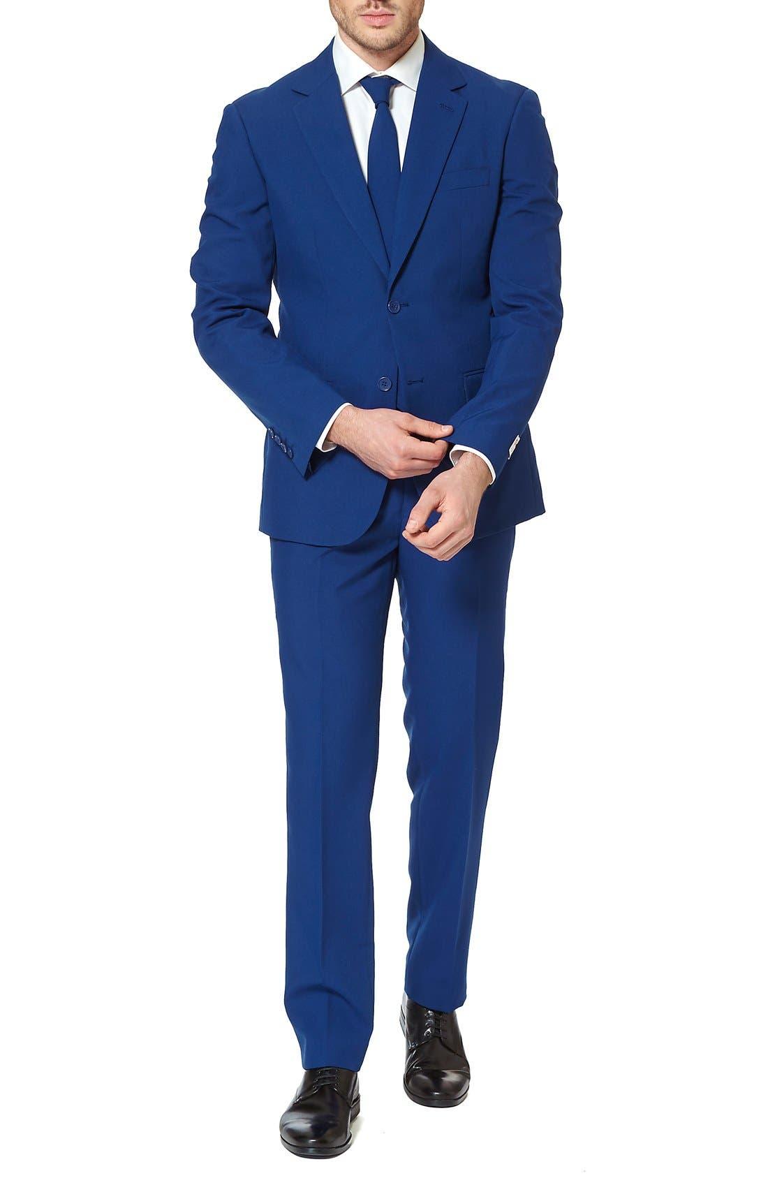 'Navy Royale' Trim Fit Two-Piece Suit with Tie,                             Alternate thumbnail 2, color,                             410