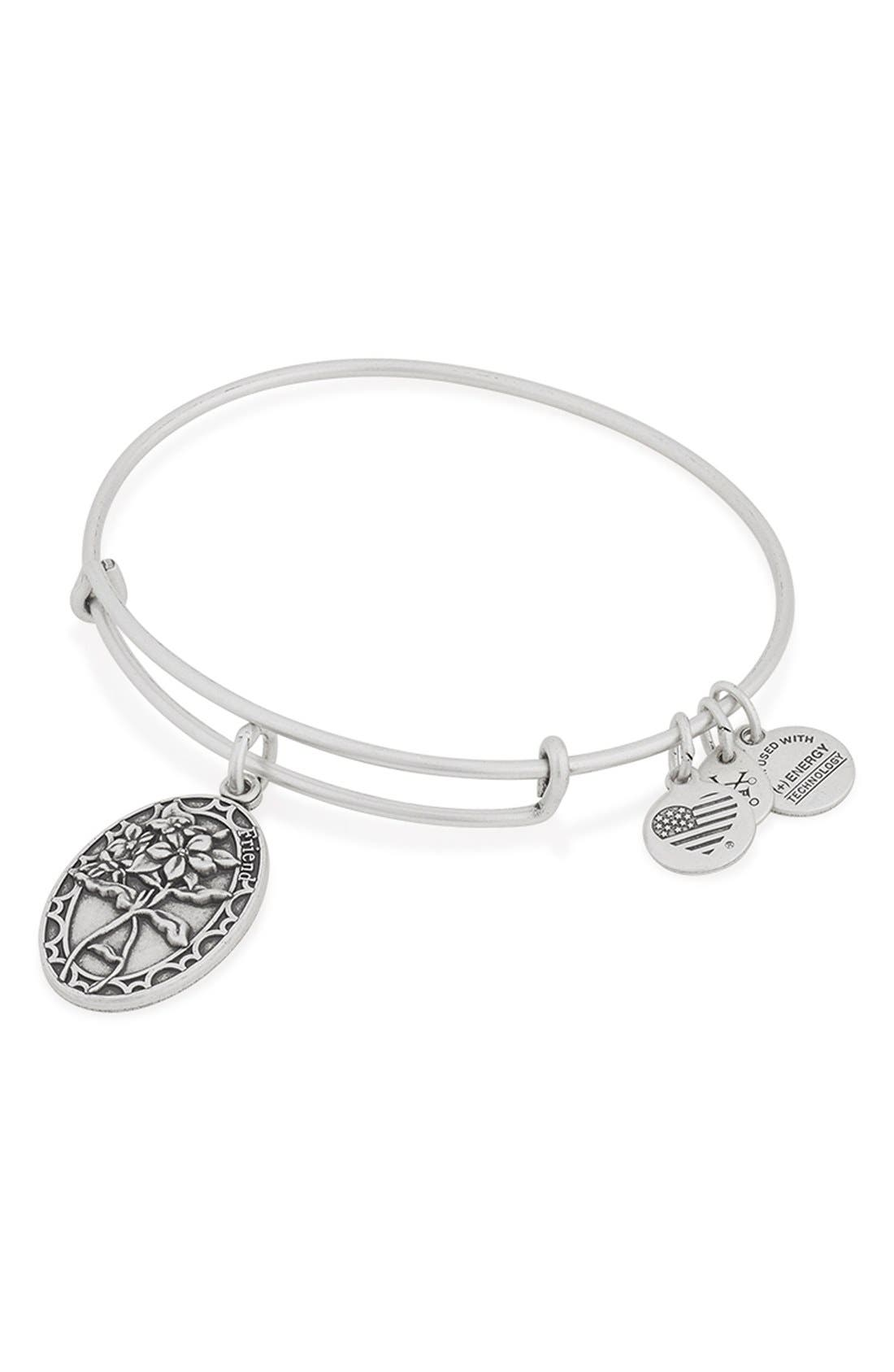 'I Love You Friend' Expandable Wire Bangle,                             Alternate thumbnail 3, color,                             040