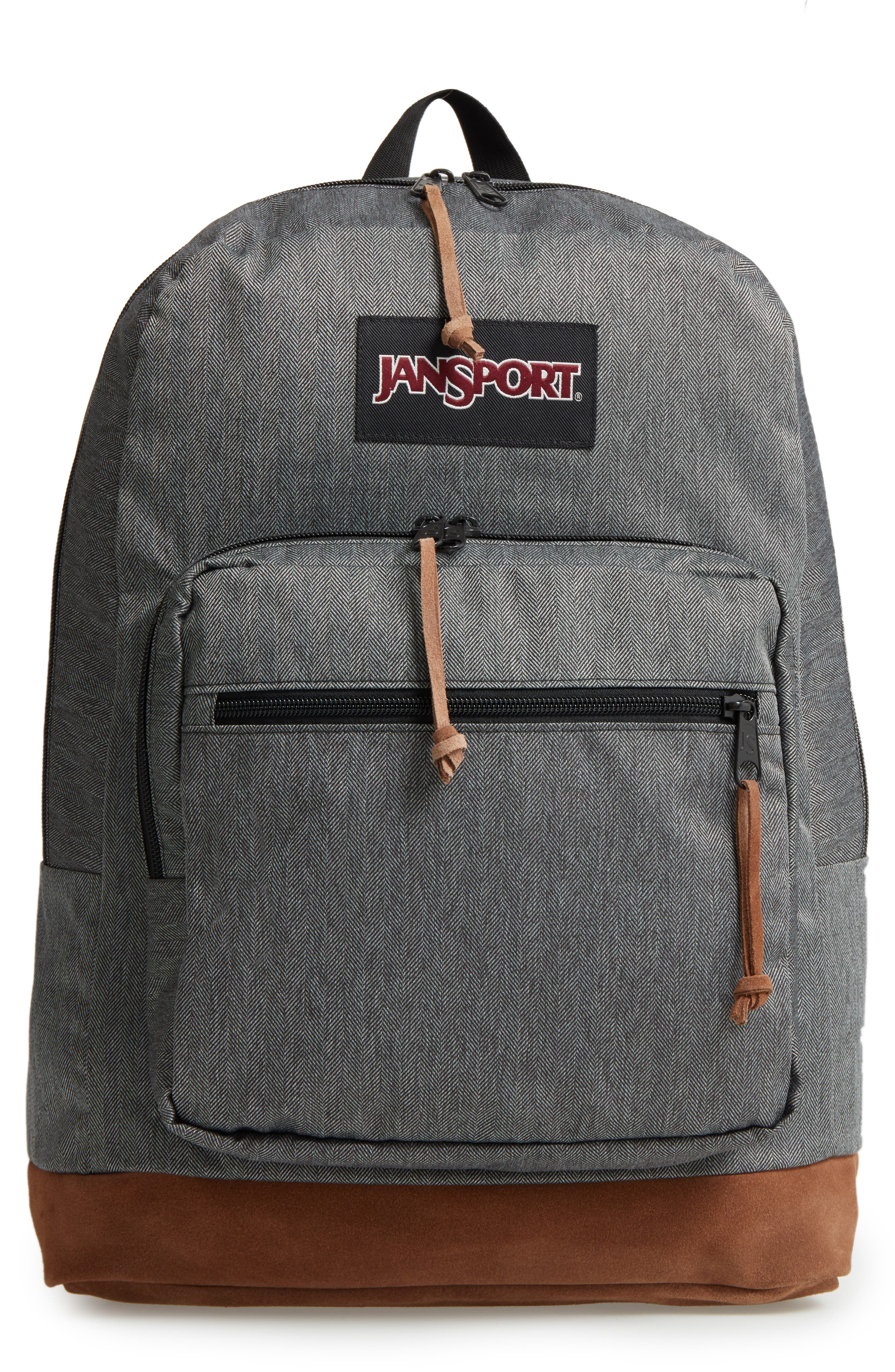 'Right Pack' Backpack,                         Main,                         color, BLACK/ WHITE