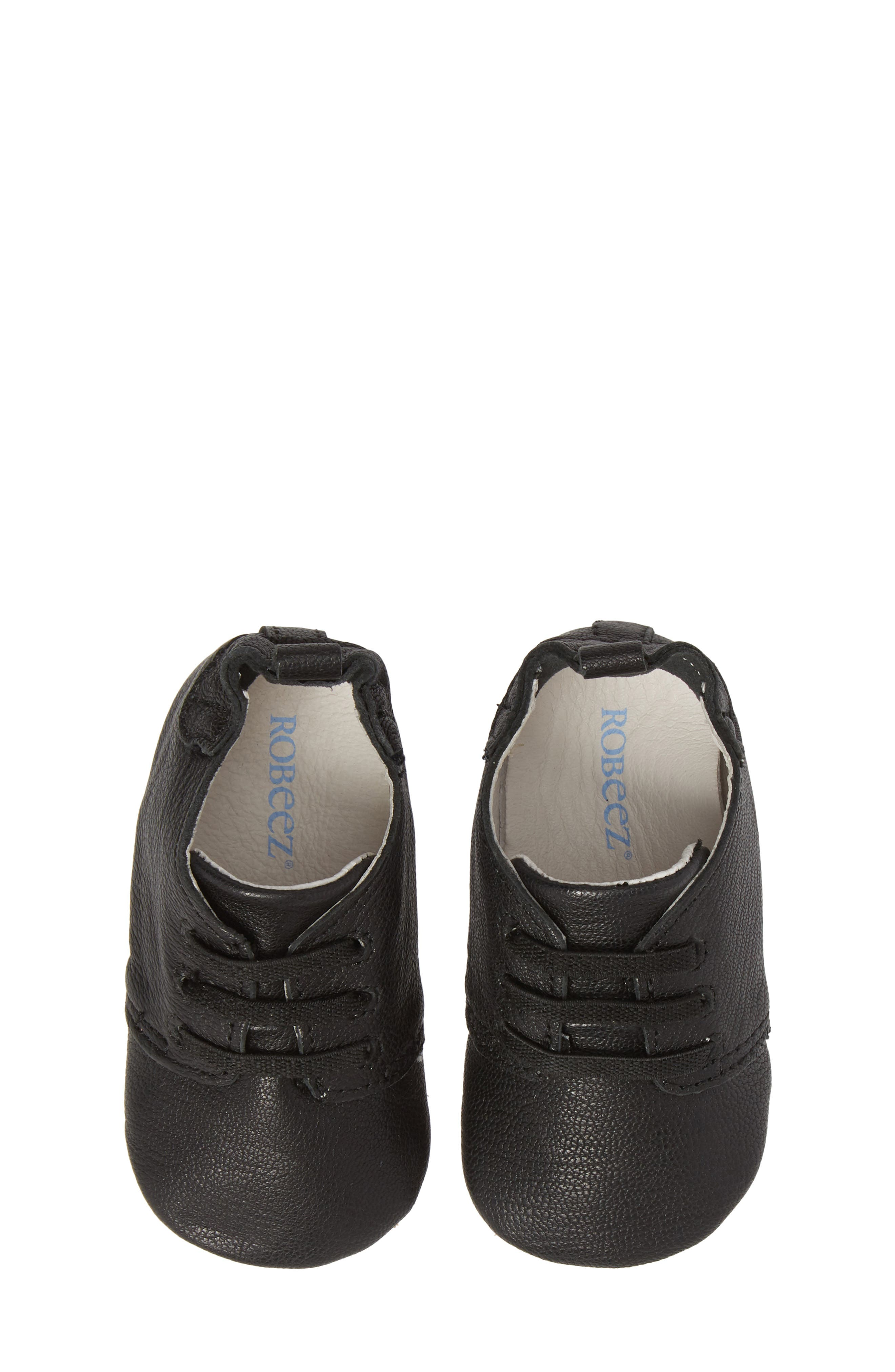 Owen Oxford Crib Shoe,                             Alternate thumbnail 5, color,                             BLACK