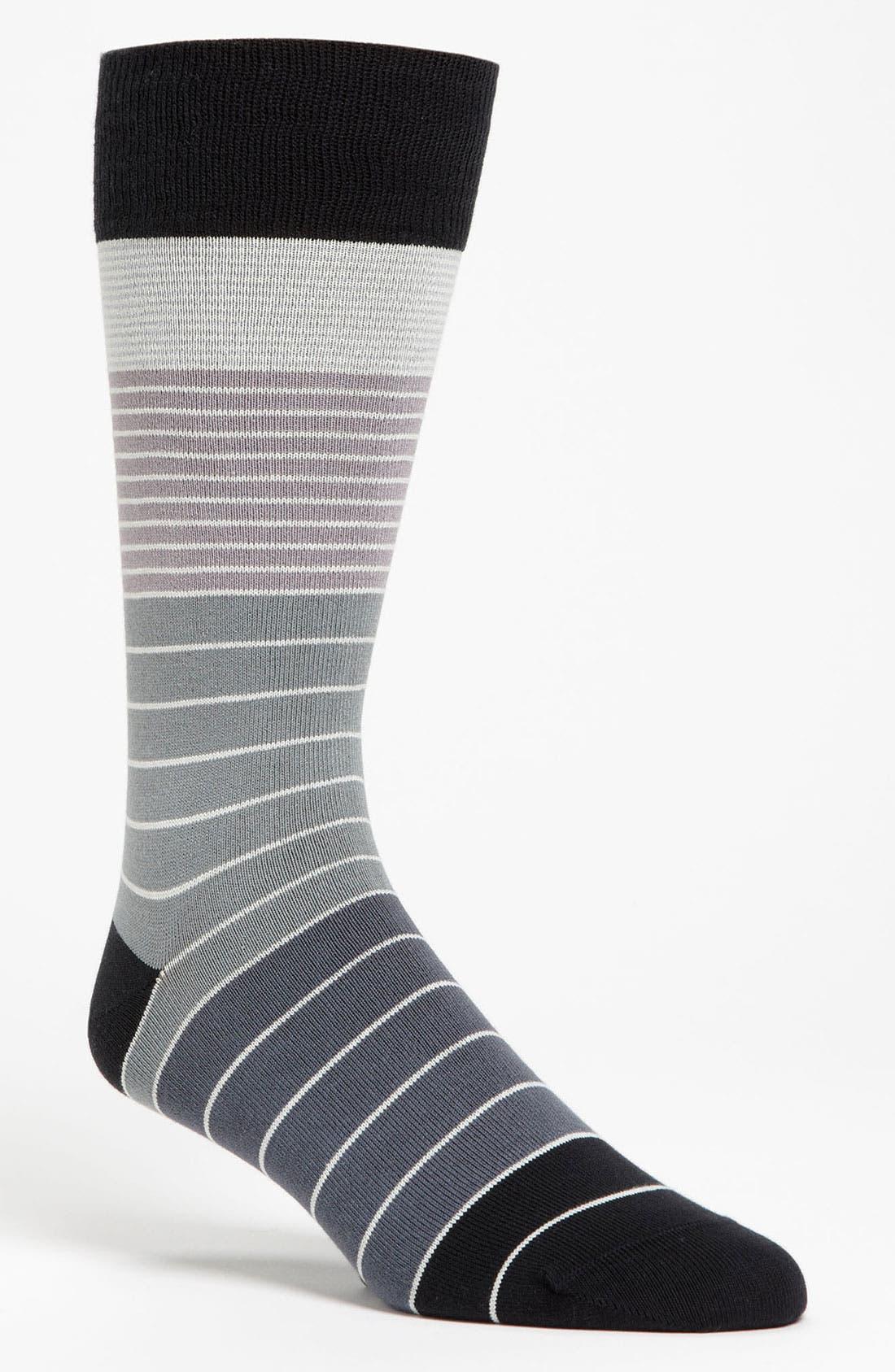 PAUL SMITH Accessories Colorblock Stripe Socks, Main, color, 001