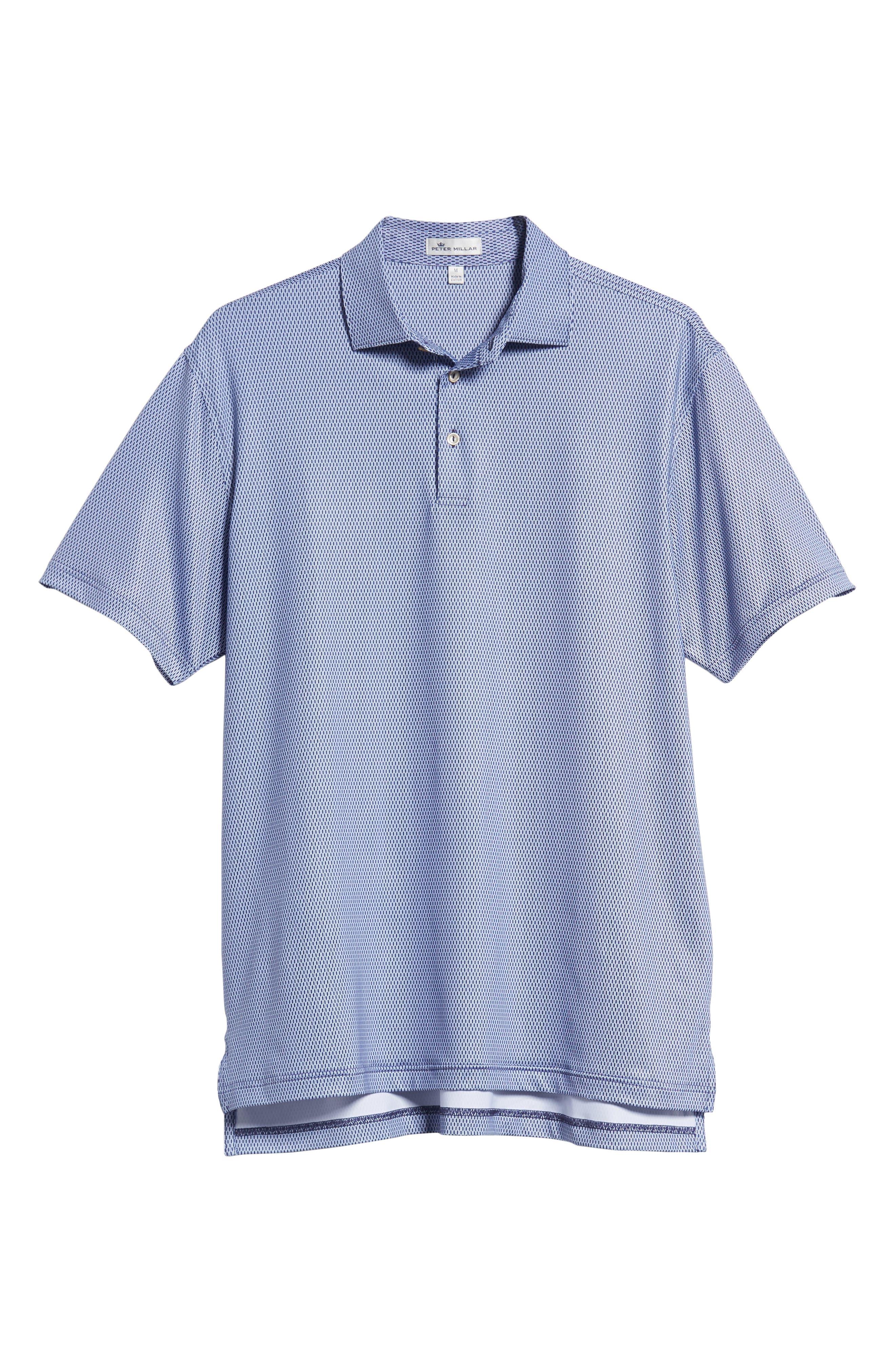 Latimer Classic Fit Links Print Golf Polo,                             Alternate thumbnail 6, color,                             410