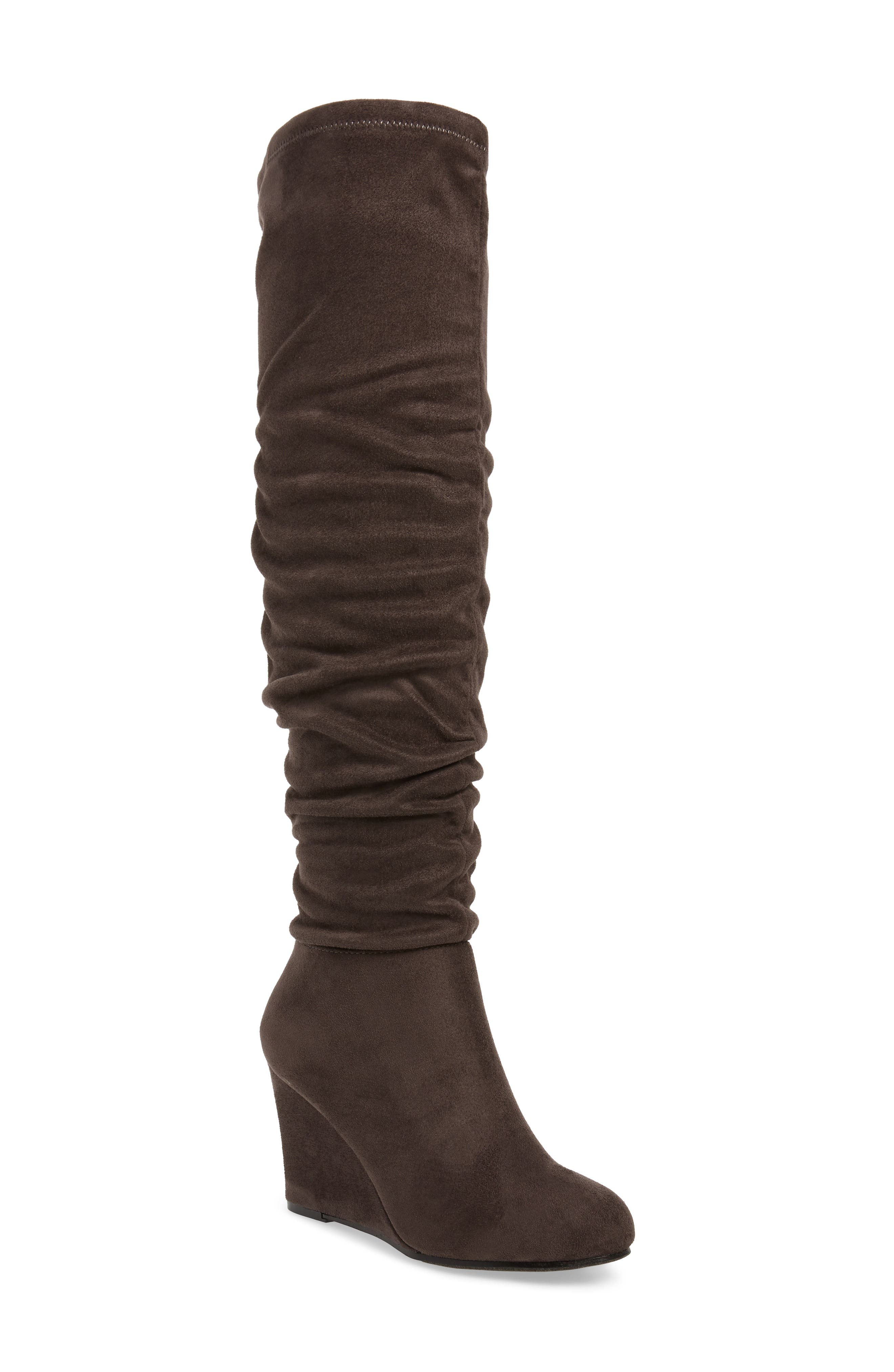 Chinese Laundry Uma Over The Knee Boot- Grey