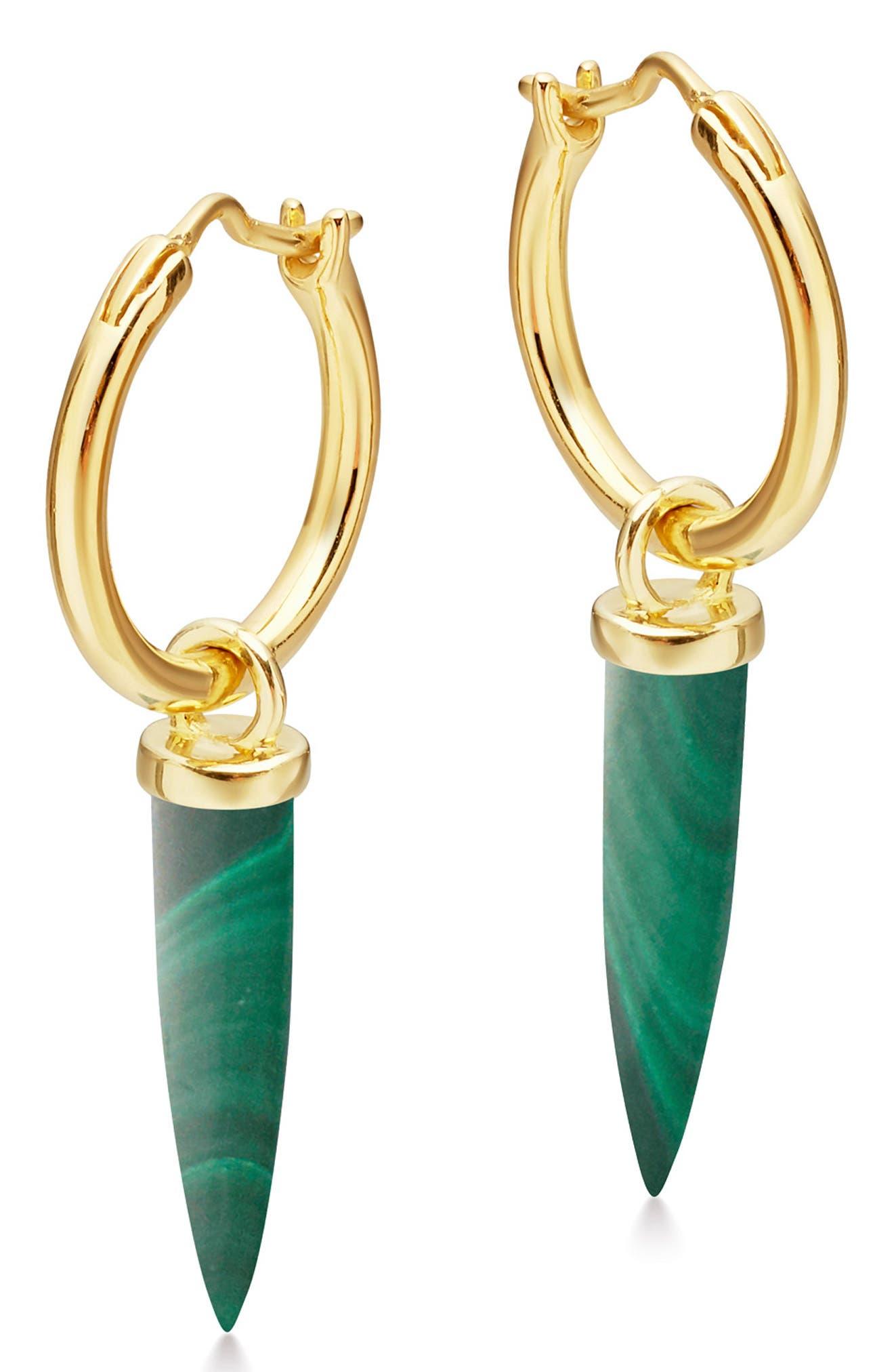 Mini Dagger Hoop Earrings,                         Main,                         color, 300