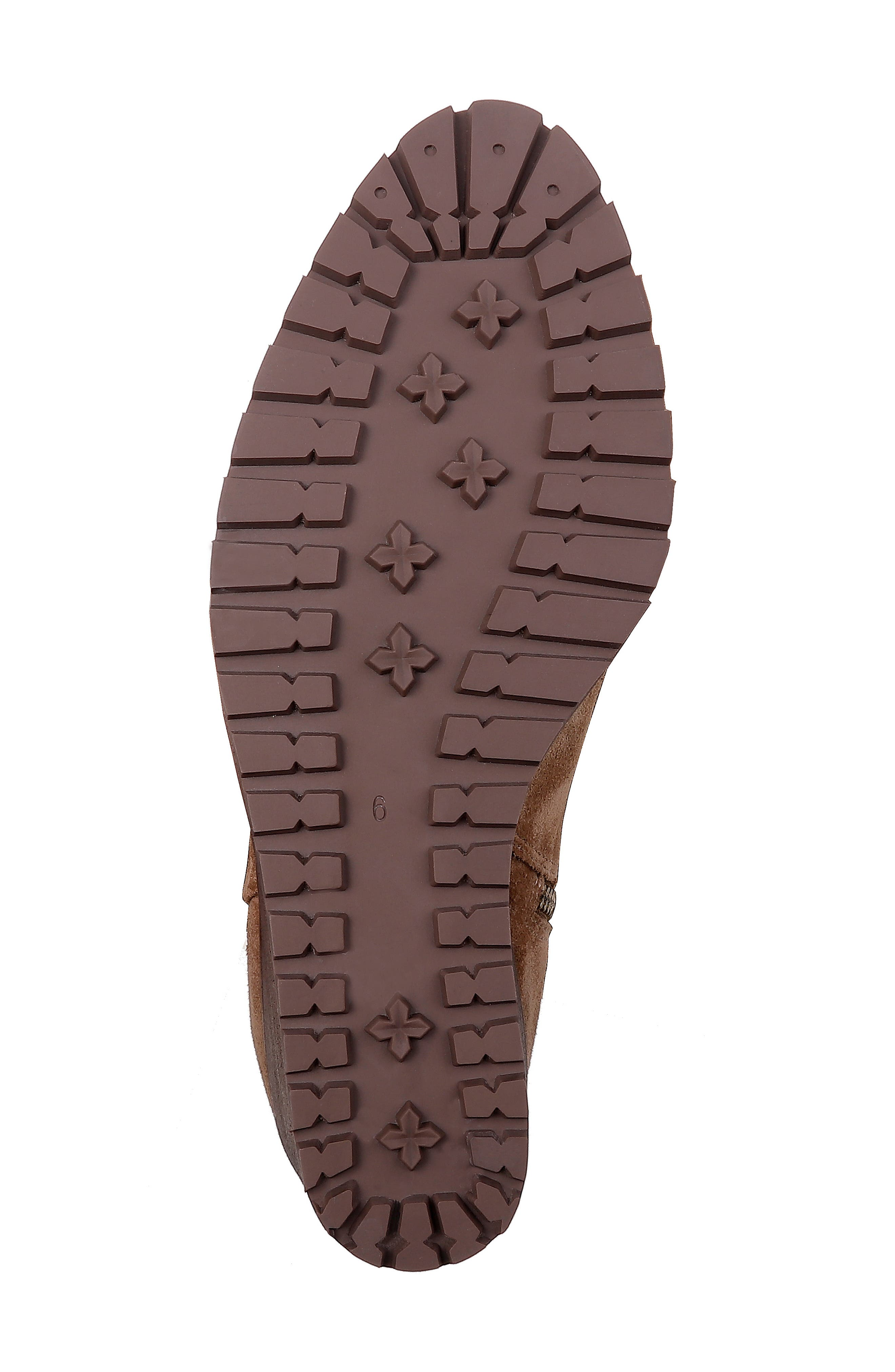 Cleveland Wedge Boot,                             Alternate thumbnail 6, color,                             LIGHT BROWN SUEDE