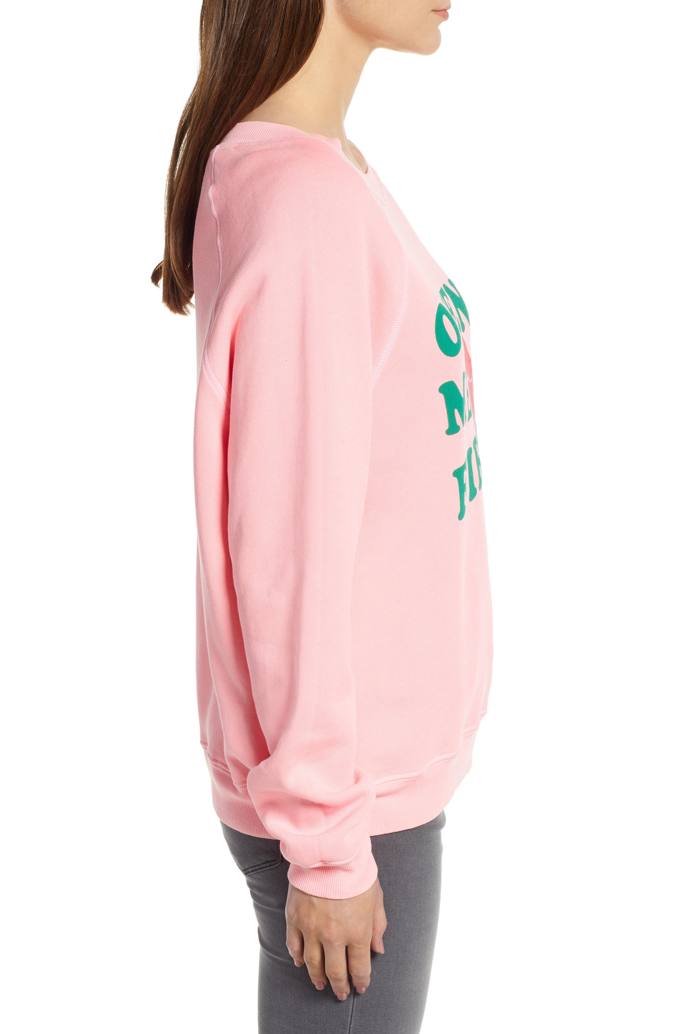 Open Me First Sommers Sweatshirt,                             Alternate thumbnail 3, color,                             NEON SIGN