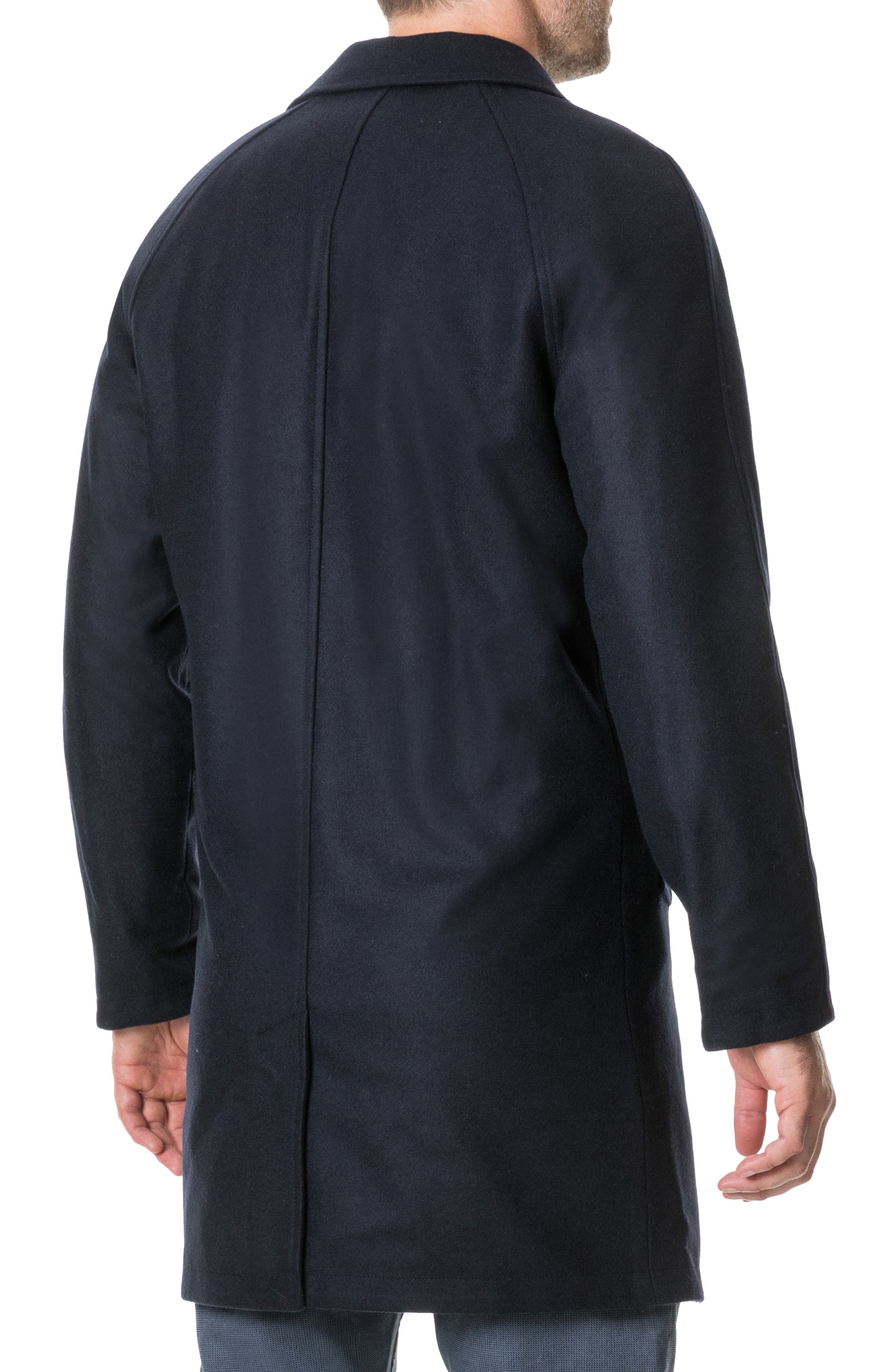 Templars Island Reversible Overcoat,                             Alternate thumbnail 2, color,                             CHARCOAL