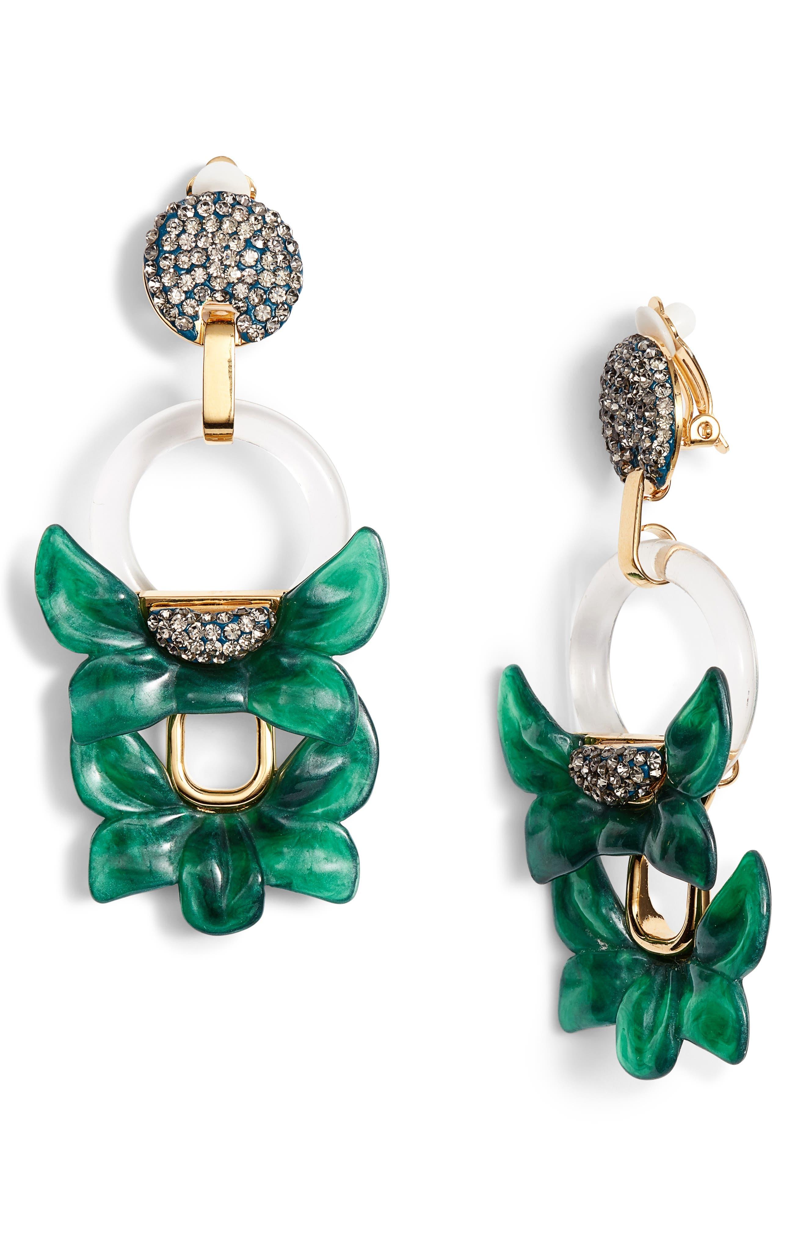 Rio Clip Drop Earrings,                             Main thumbnail 1, color,                             300