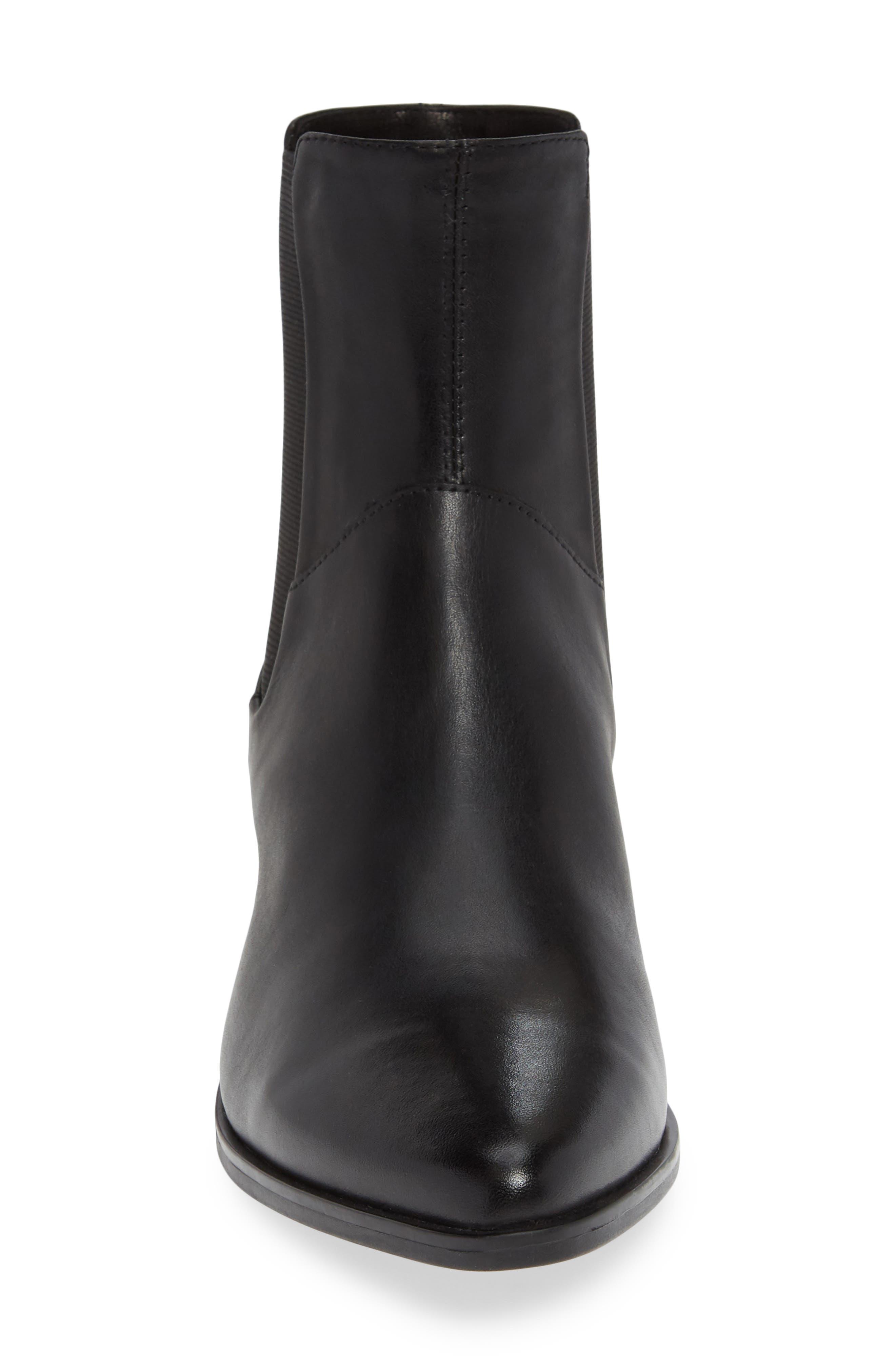VAGABOND,                             Shoemakers Lara Bootie,                             Alternate thumbnail 4, color,                             BLACK LEATHER
