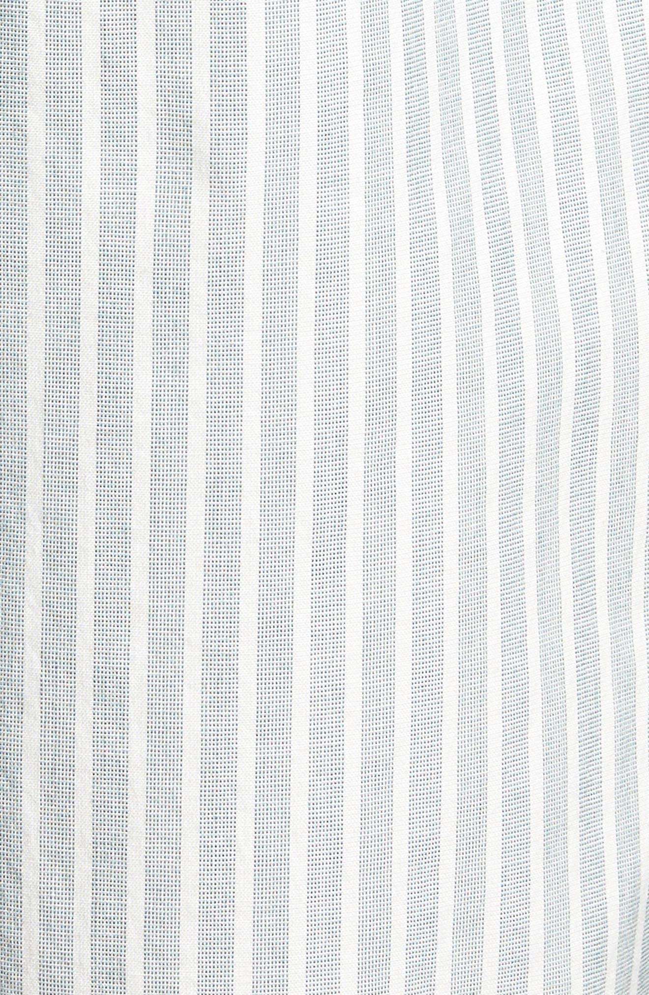 Preston Regular Fit Flat Front Shorts,                             Alternate thumbnail 5, color,                             PINE