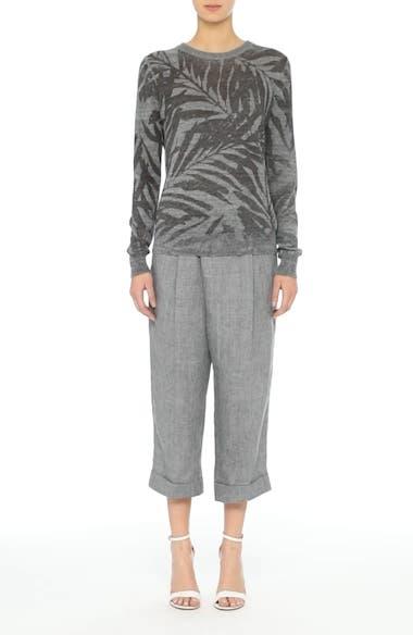 Cross Front Linen Crop Trousers, video thumbnail