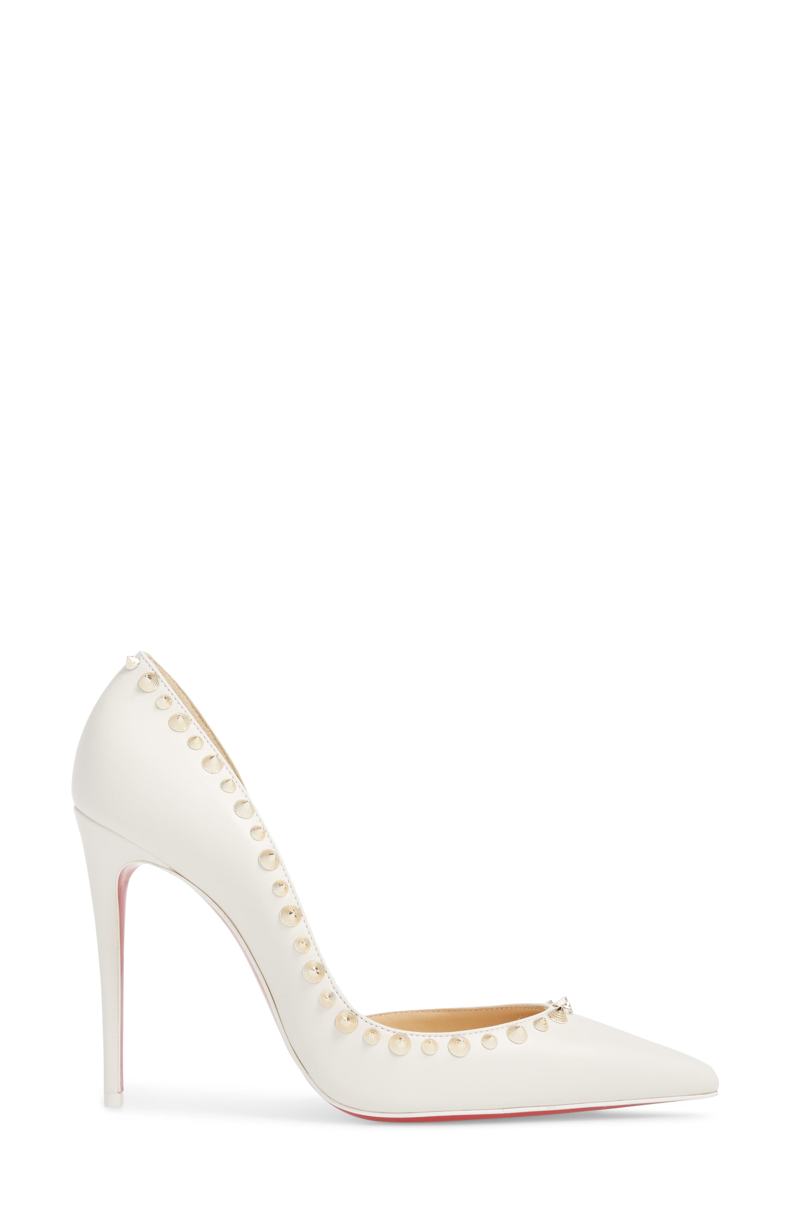 Irishell Spiked Half d'Orsay Pump,                             Alternate thumbnail 3, color,                             LATTE/ WHITE GOLD