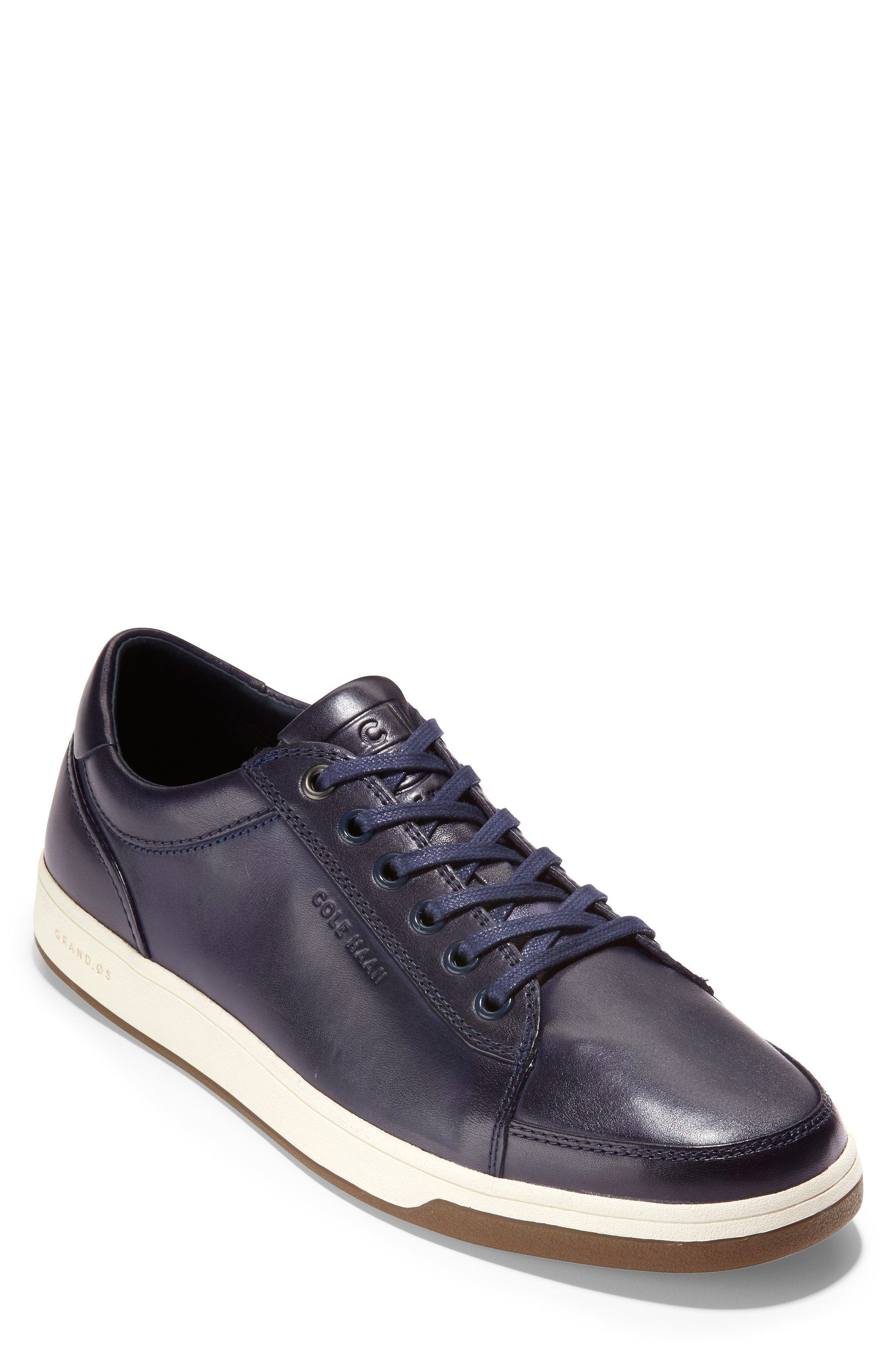GrandPro Spectator Sneaker,                             Main thumbnail 1, color,                             BLAZER BLUE HANDSTAIN LEATHER