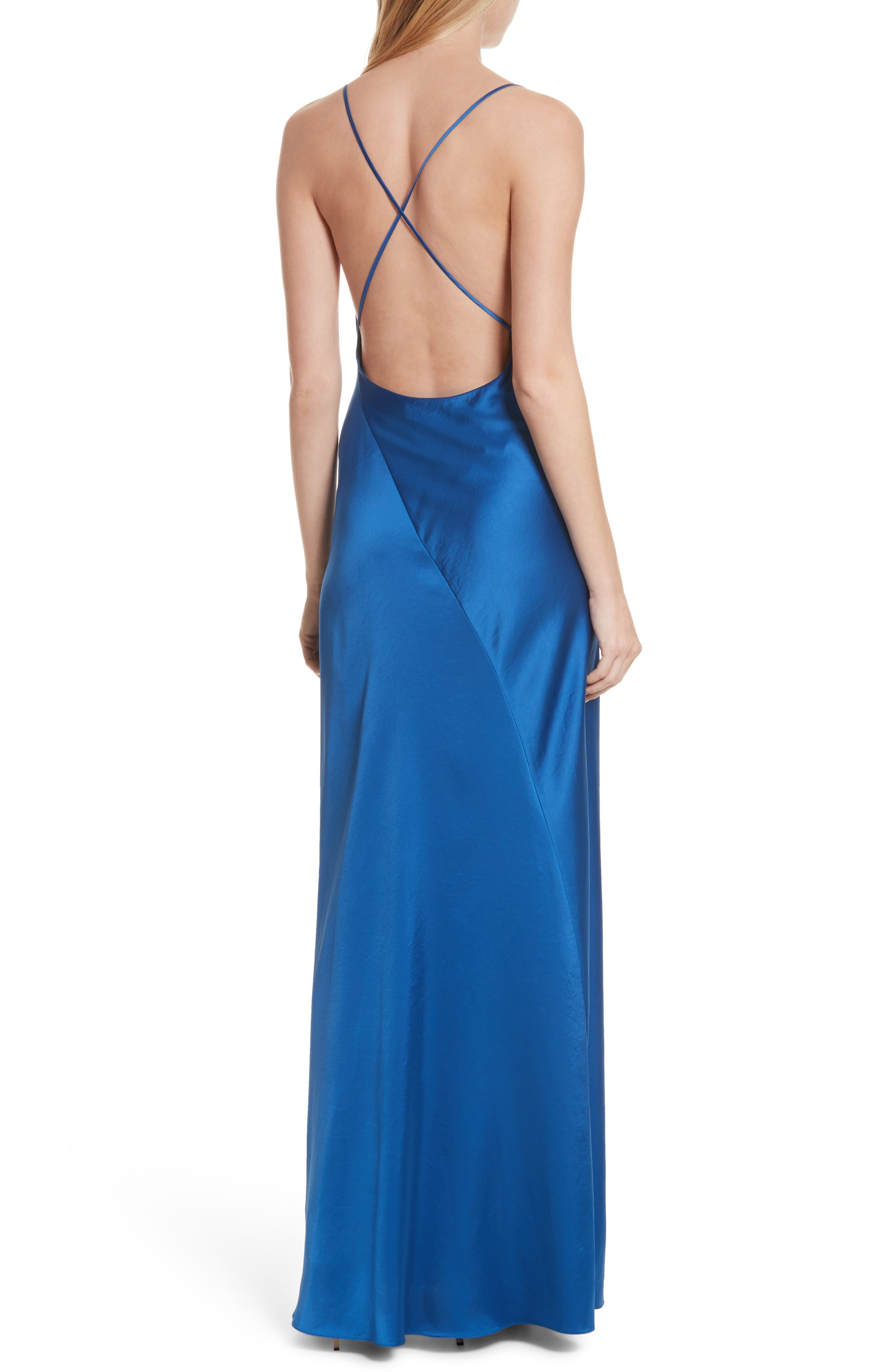 Diane von Furstenberg Open Back A-Line Gown,                             Alternate thumbnail 2, color,