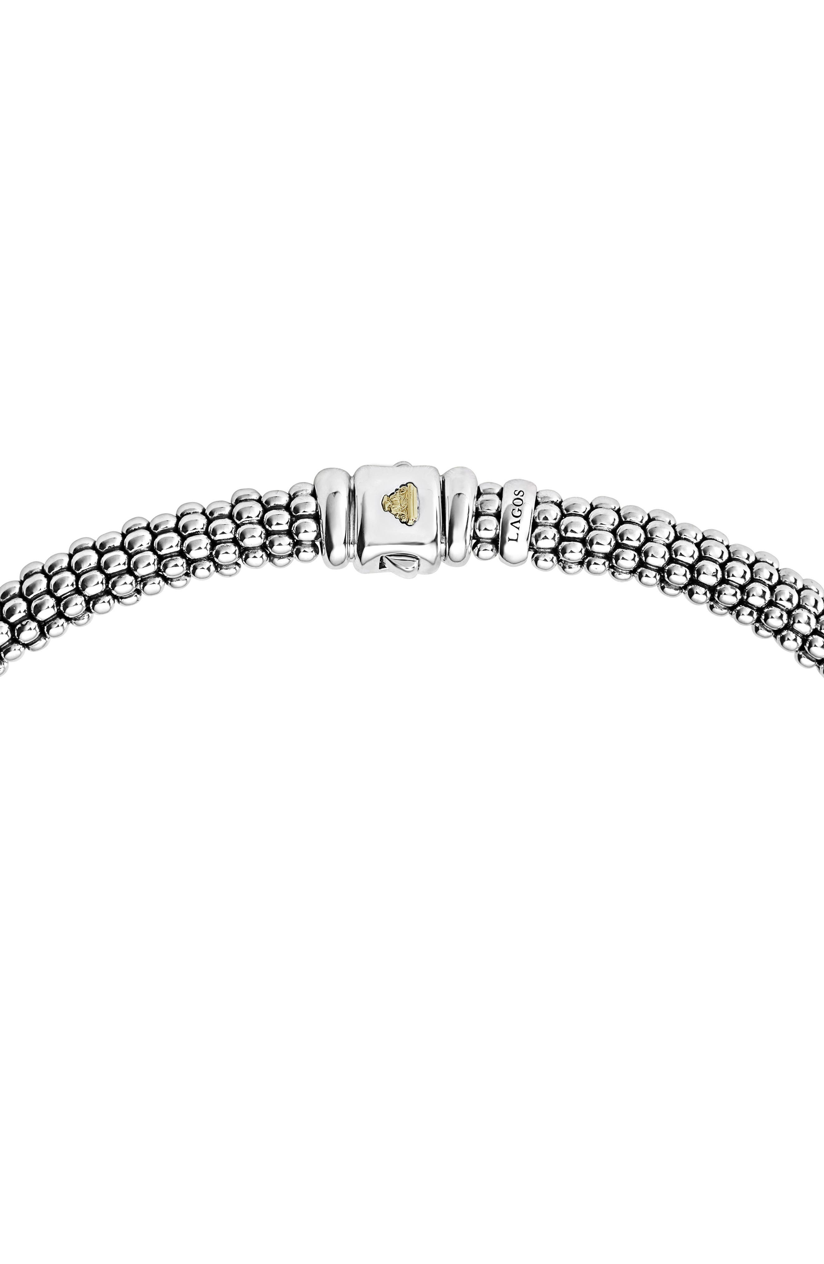 Diamond Lux Triple Station Collar Necklace,                             Alternate thumbnail 3, color,                             SILVER/ DIAMOND