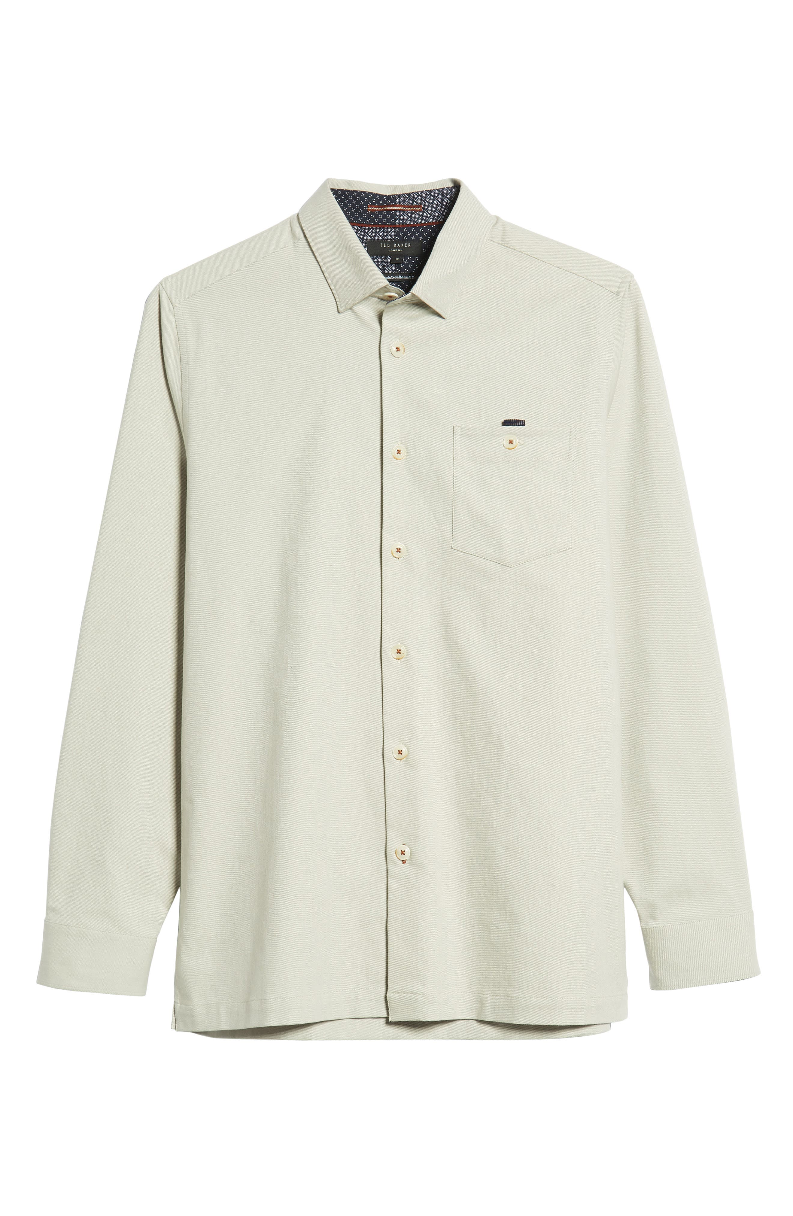 Slim Fit Oxford Sport Shirt,                             Alternate thumbnail 5, color,                             NATURAL
