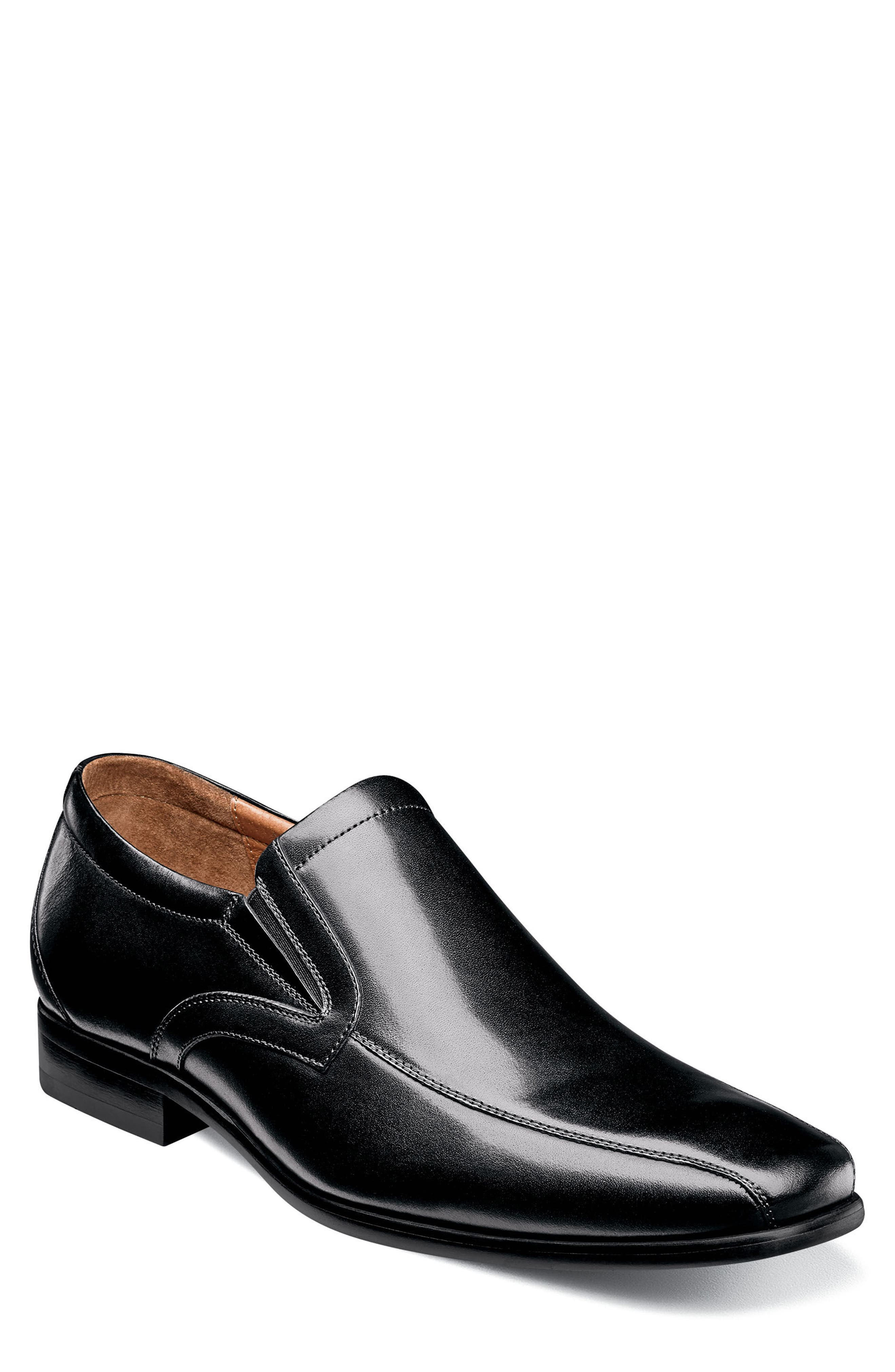 Postino Bike Toe Slip-On,                             Main thumbnail 1, color,                             BLACK LEATHER