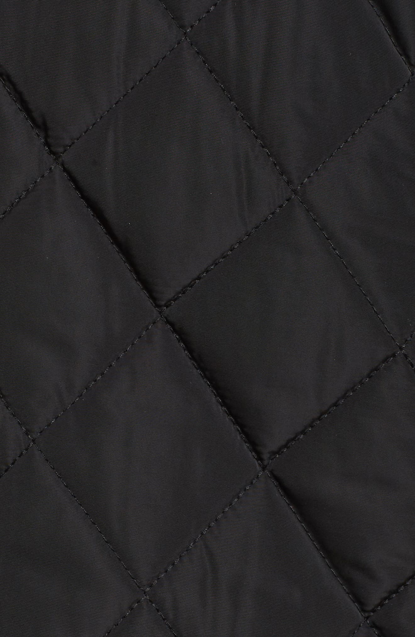 Quilted Hooded Jacket,                             Alternate thumbnail 6, color,                             001