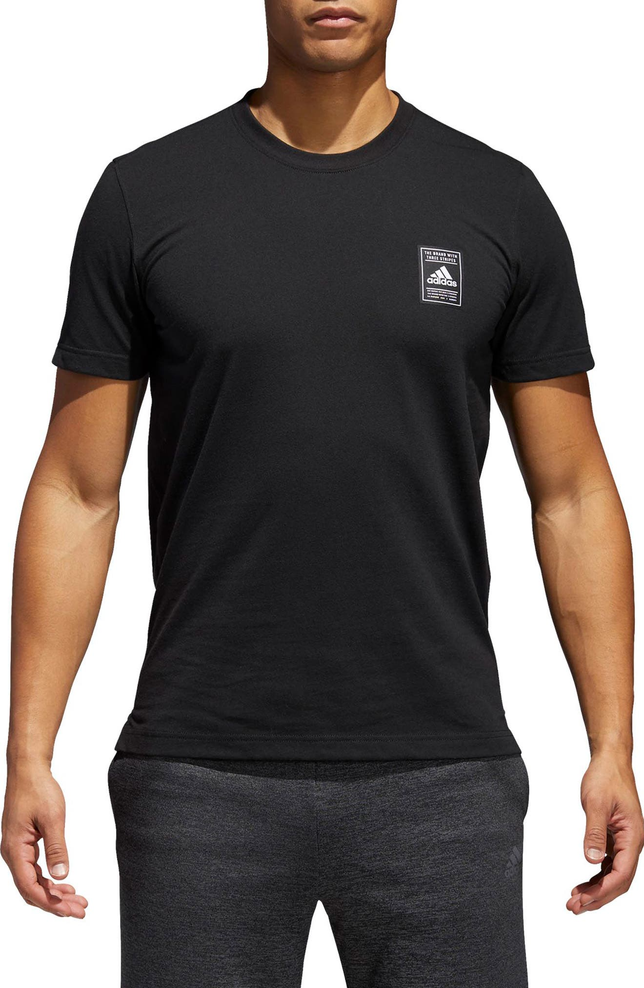 Crewneck T-Shirt,                         Main,                         color, 001