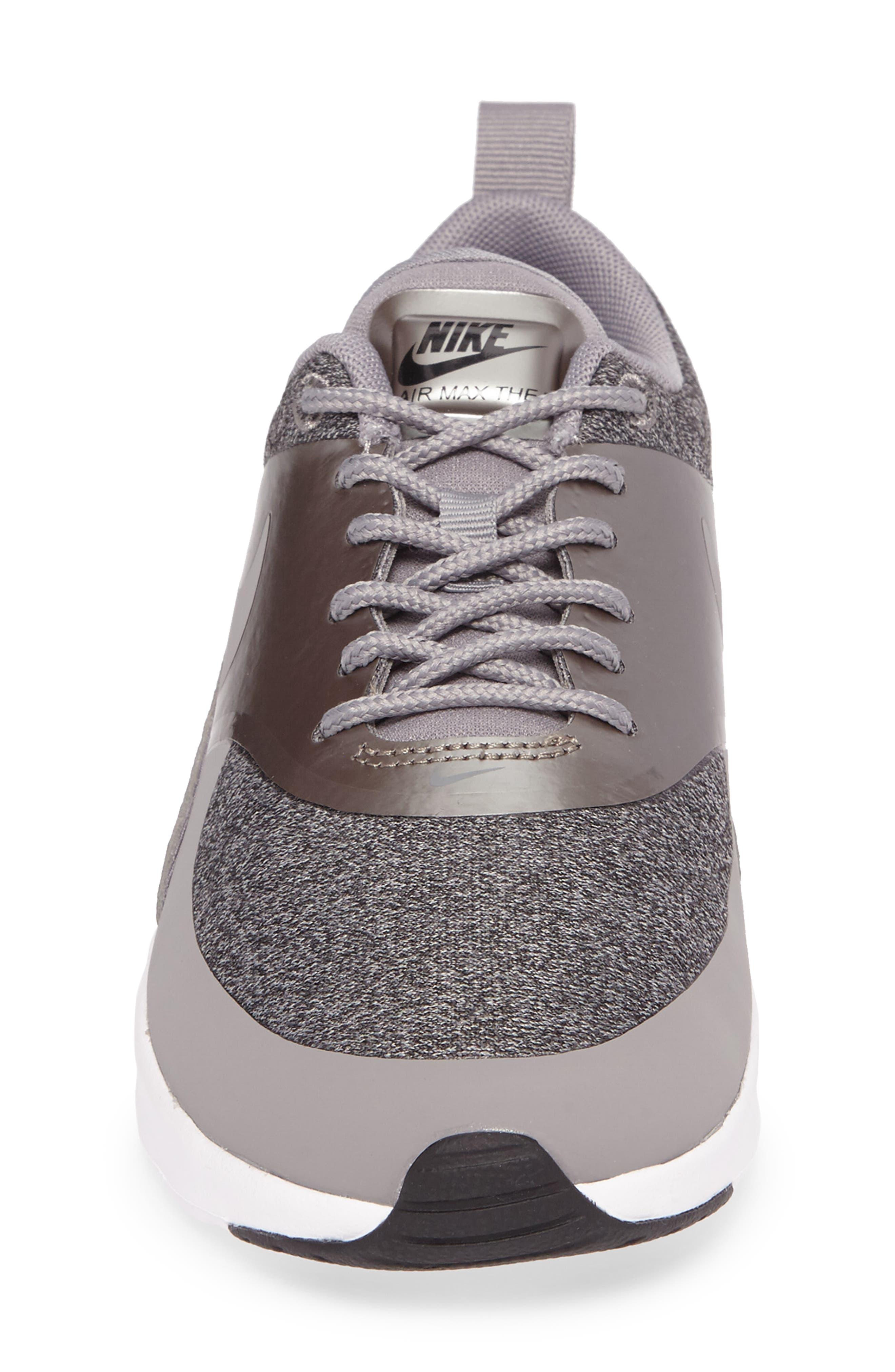 Air Max Thea Knit Sneaker,                             Alternate thumbnail 4, color,                             020