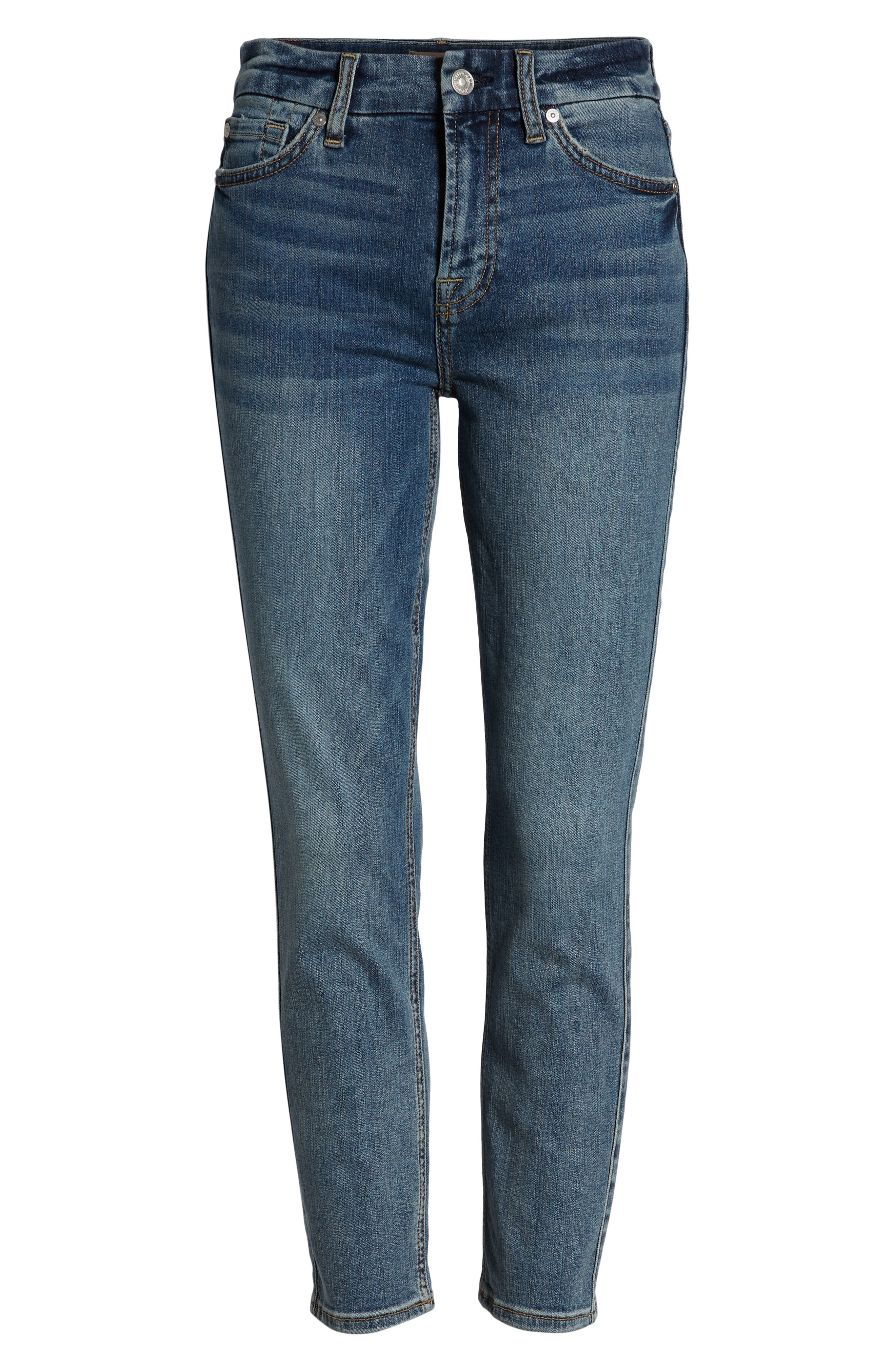 7 FOR ALL MANKIND<SUP>®</SUP>,                             b(air) Kimmie Crop Slim Jeans,                             Alternate thumbnail 7, color,                             402