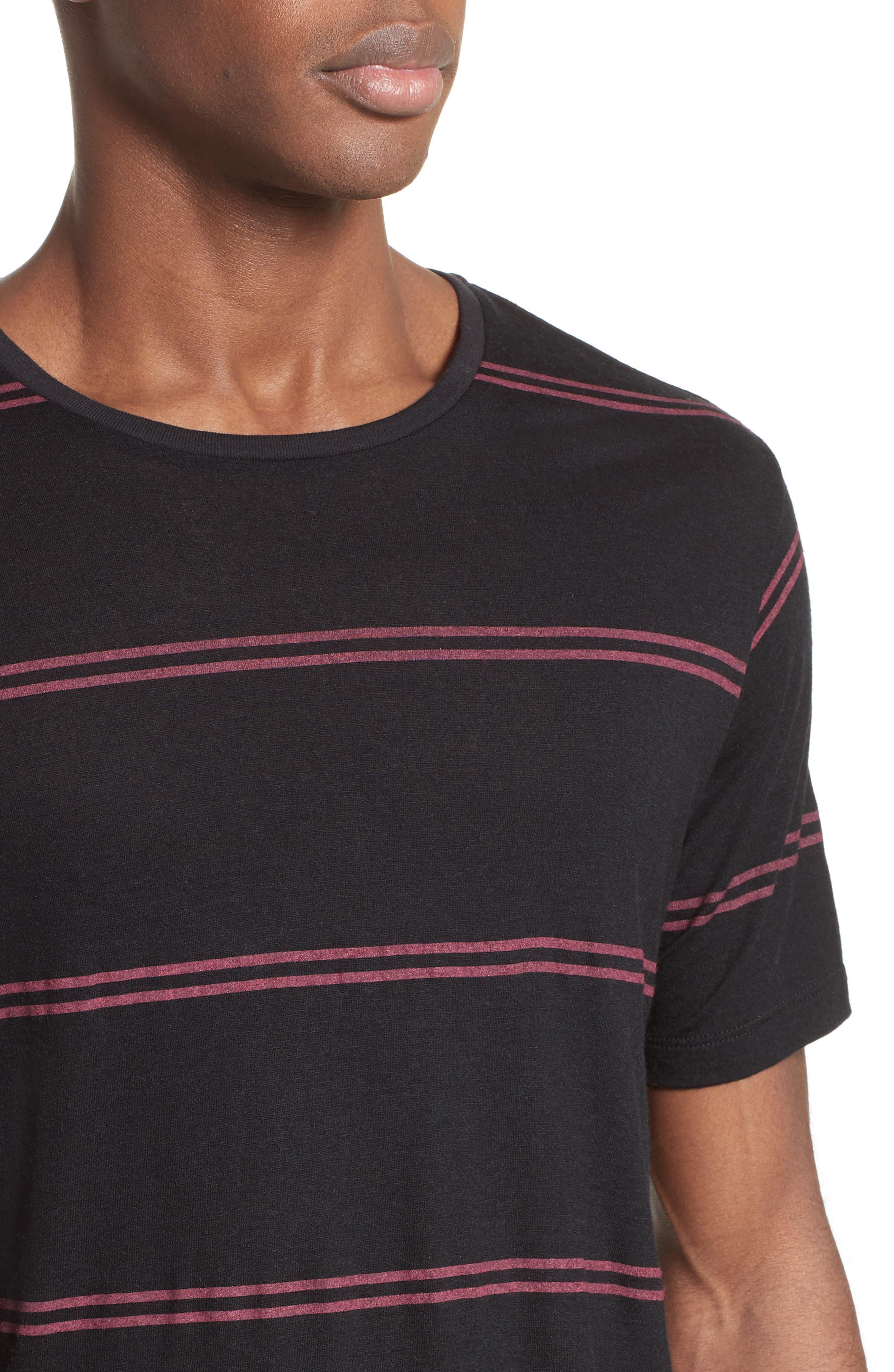 Stripe T-Shirt,                             Alternate thumbnail 4, color,                             001