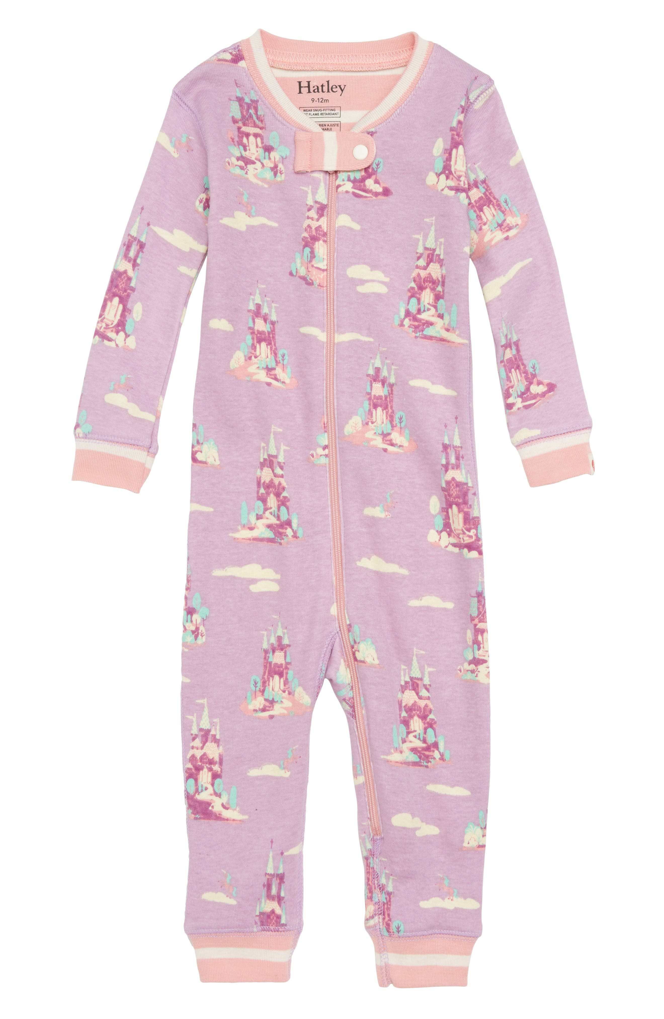 Organic Cotton Fitted One-Piece Pajamas,                             Main thumbnail 1, color,                             500
