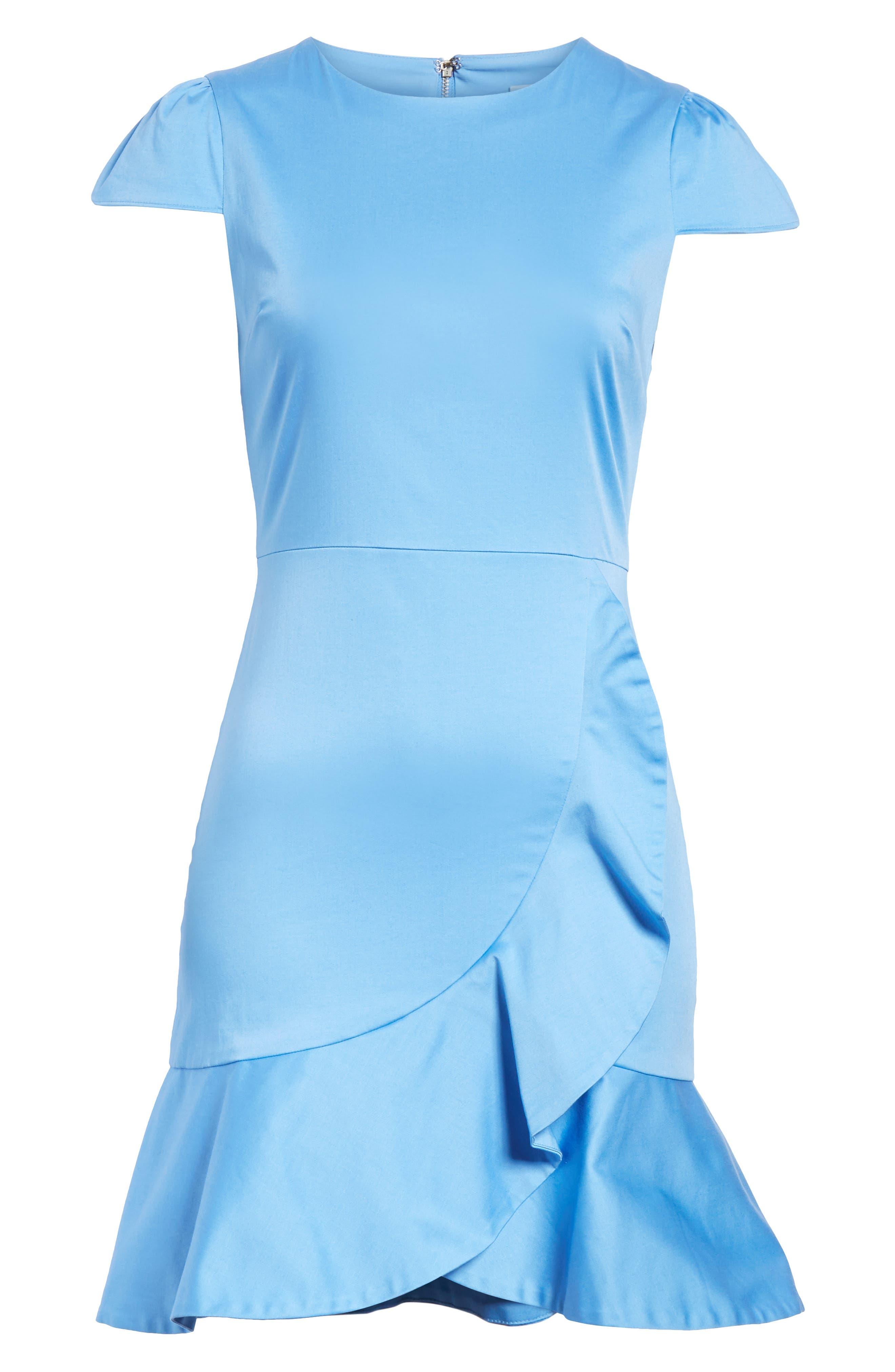 Kirby Ruffle Faux Wrap Dress,                             Alternate thumbnail 6, color,