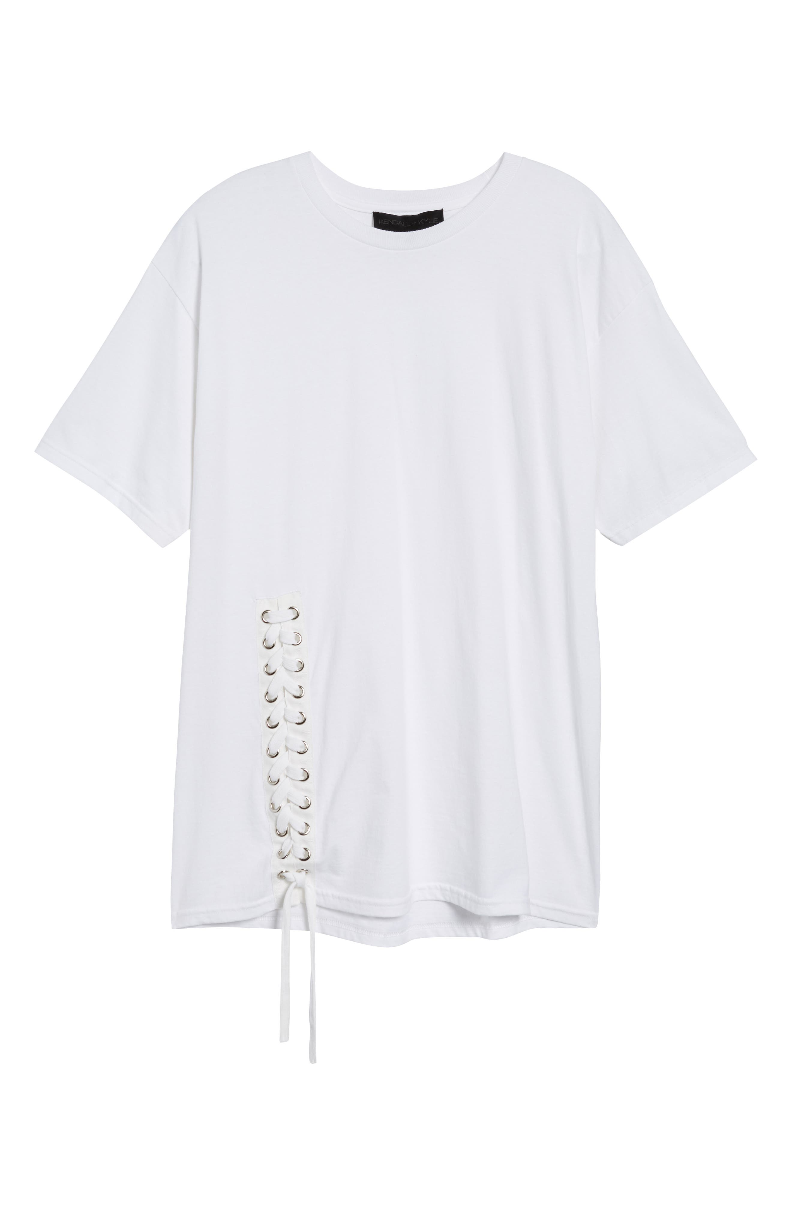 Lace-Up Tee,                             Alternate thumbnail 6, color,                             102