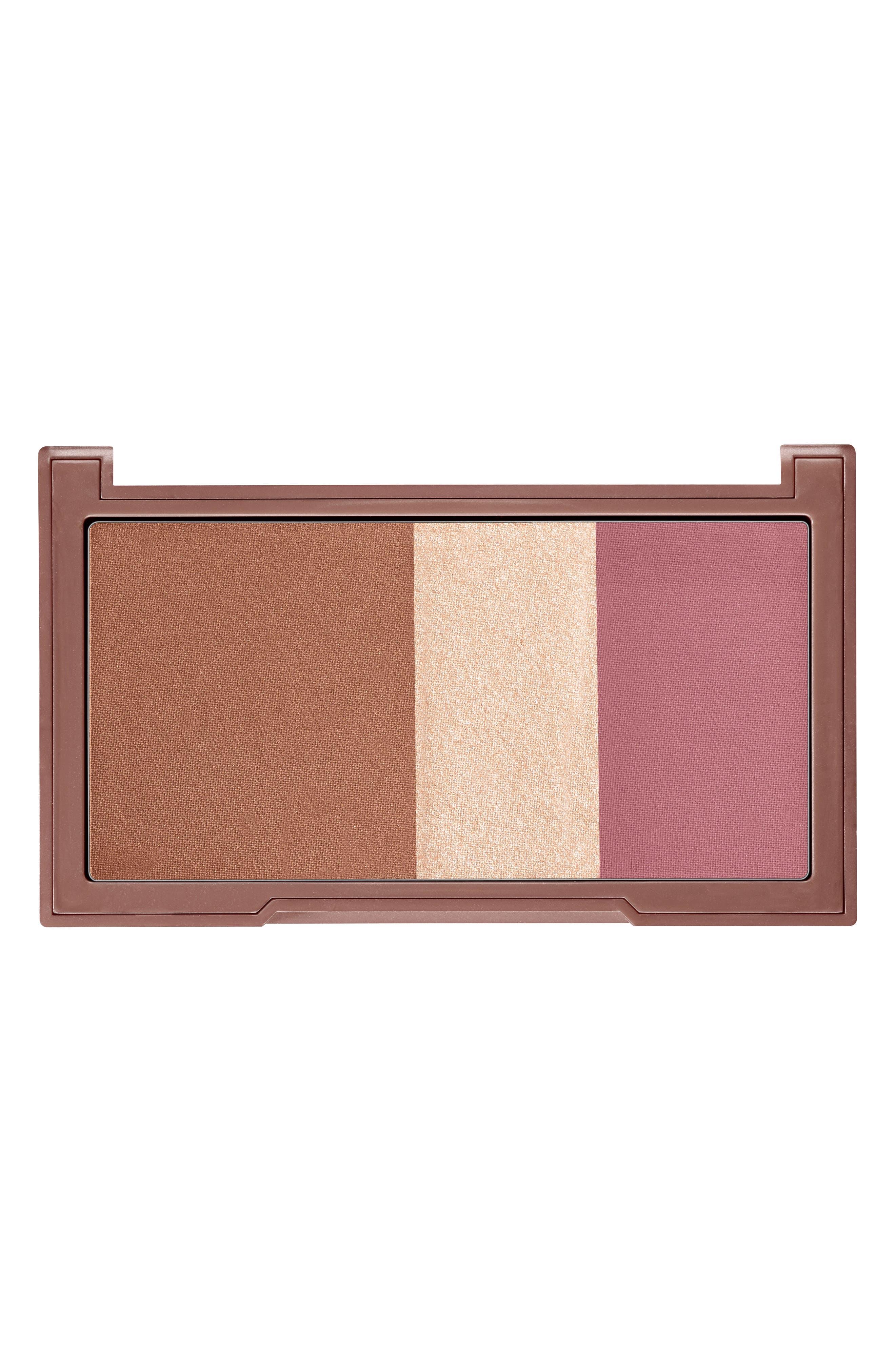 Naked Flushed Bronzer, Highlighter & Blush Palette,                             Alternate thumbnail 3, color,                             SESSO