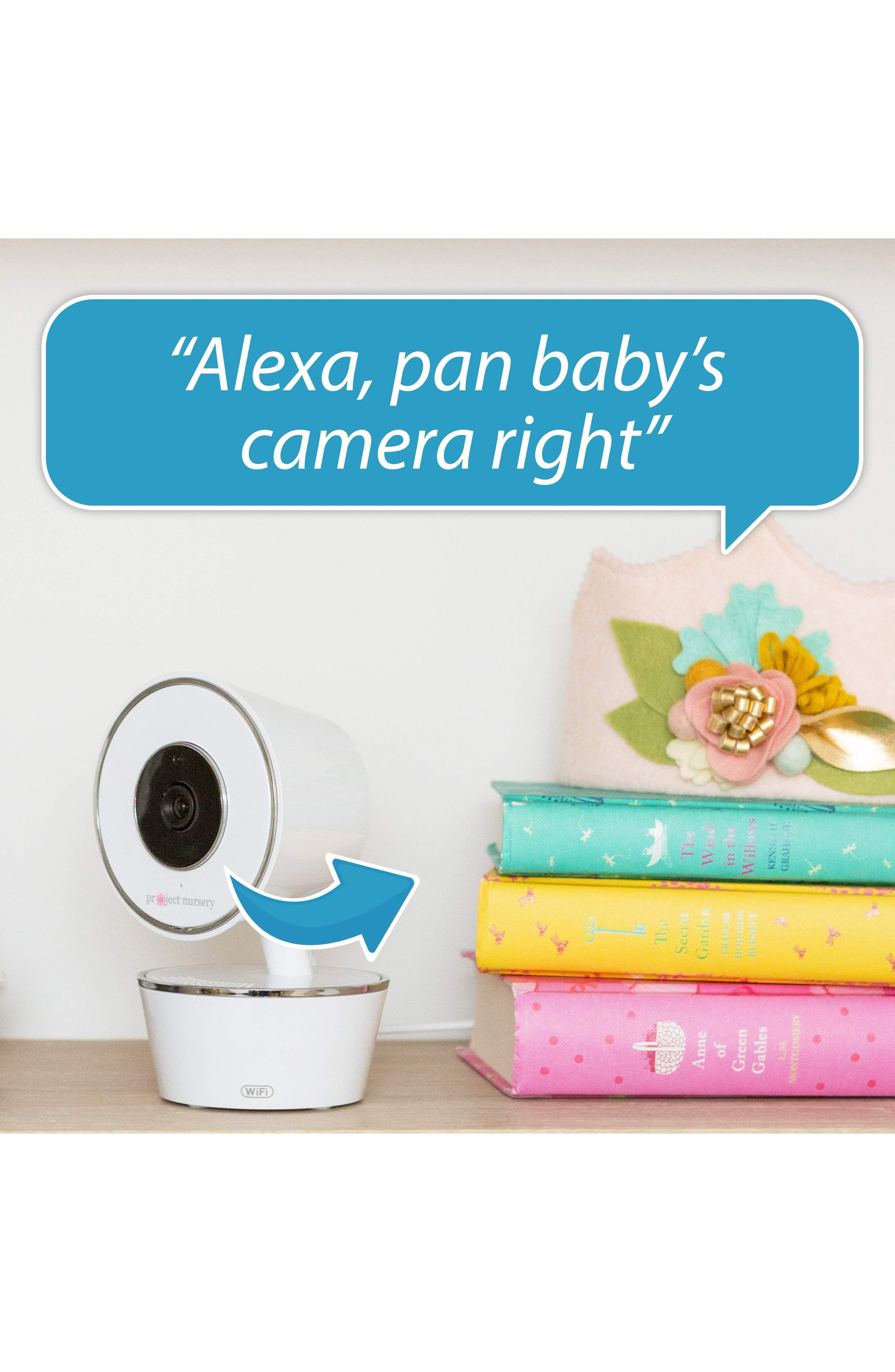 Smart Nursery Wi-Fi Baby Monitor,                             Alternate thumbnail 8, color,                             WHITE