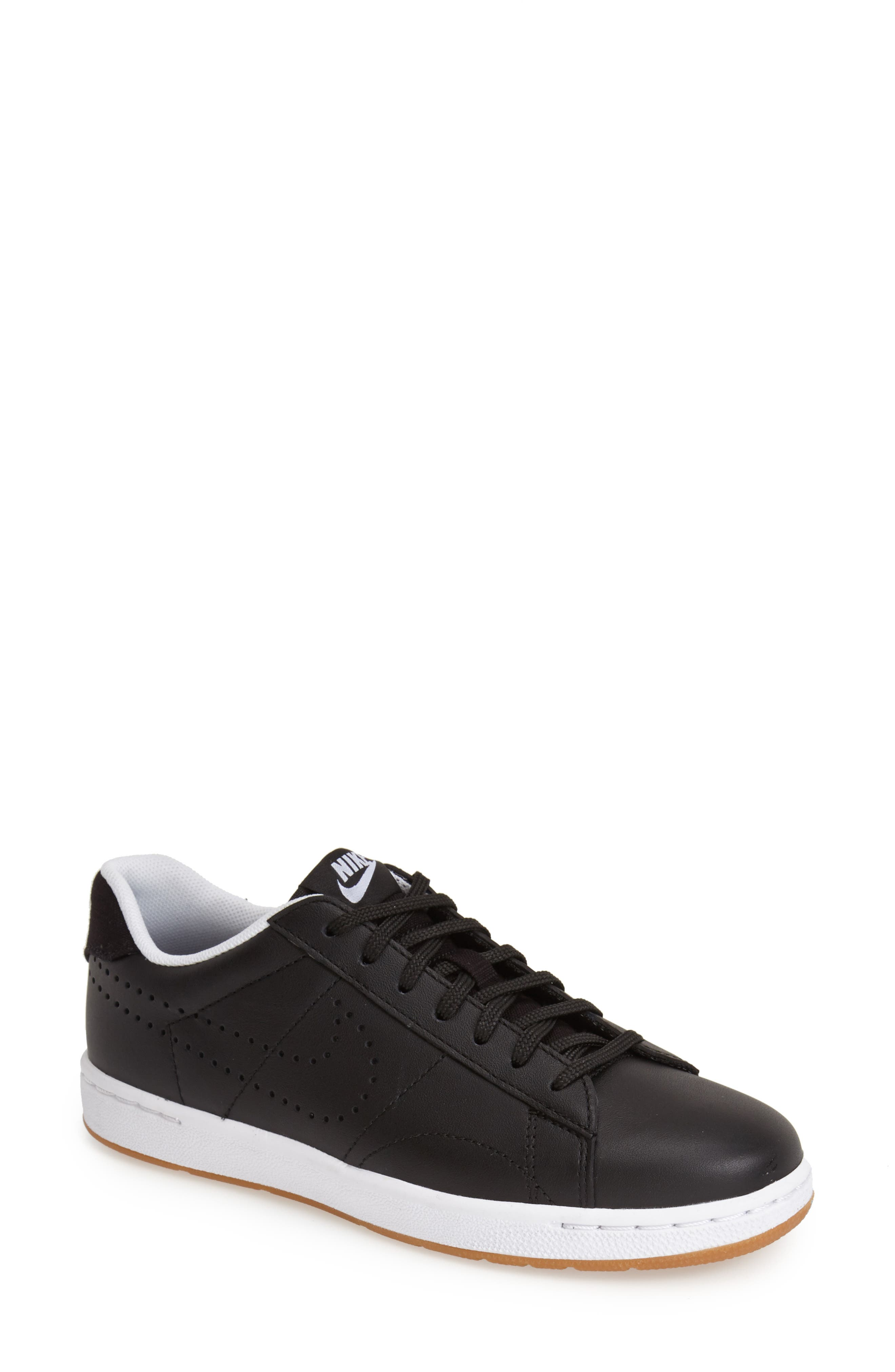 'Classic Ultra' Leather Sneaker,                             Alternate thumbnail 6, color,                             001
