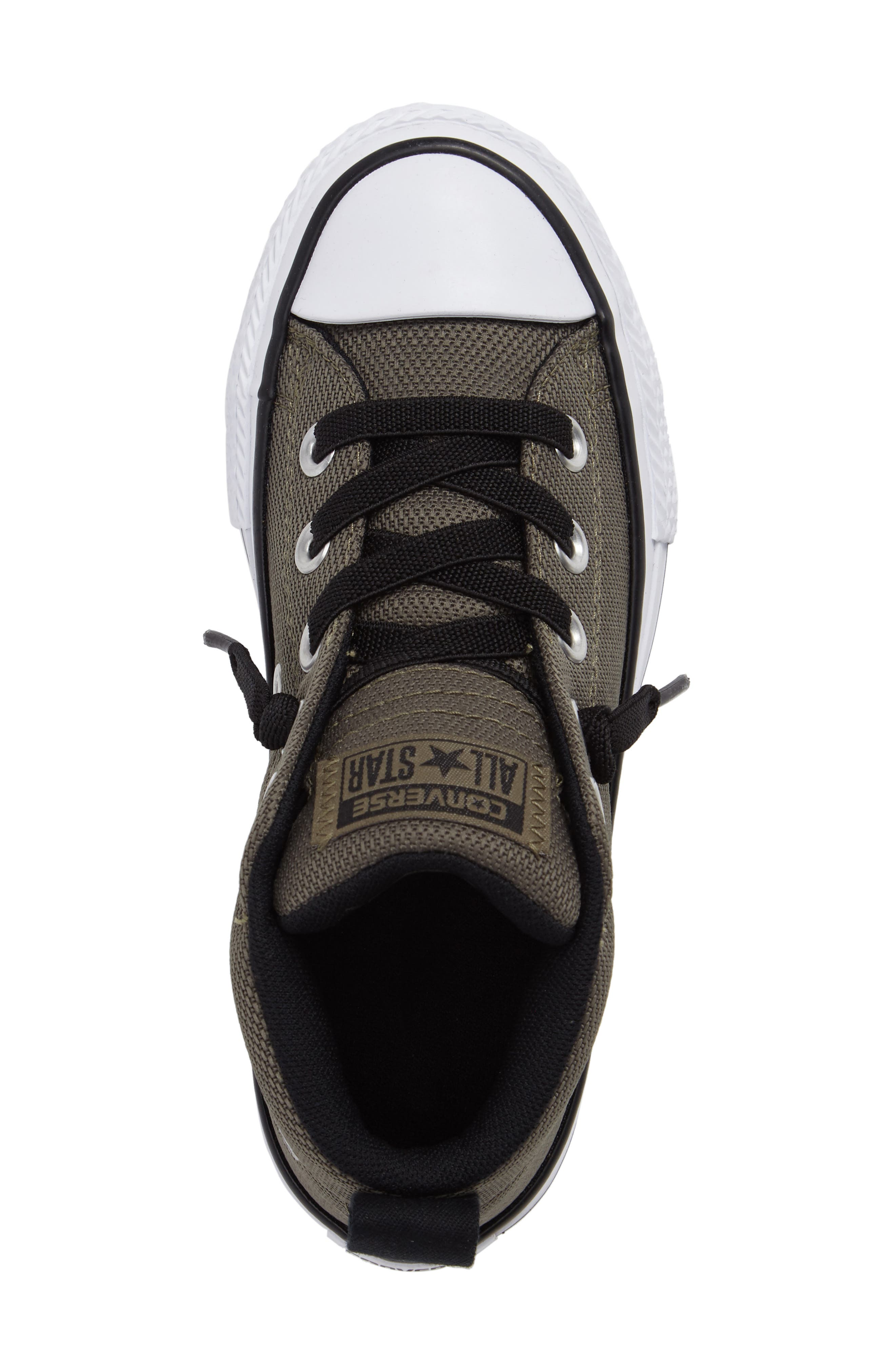 Chuck Taylor<sup>®</sup> All Star<sup>®</sup> Basket Weave Street Mid Sneaker,                             Alternate thumbnail 5, color,                             342