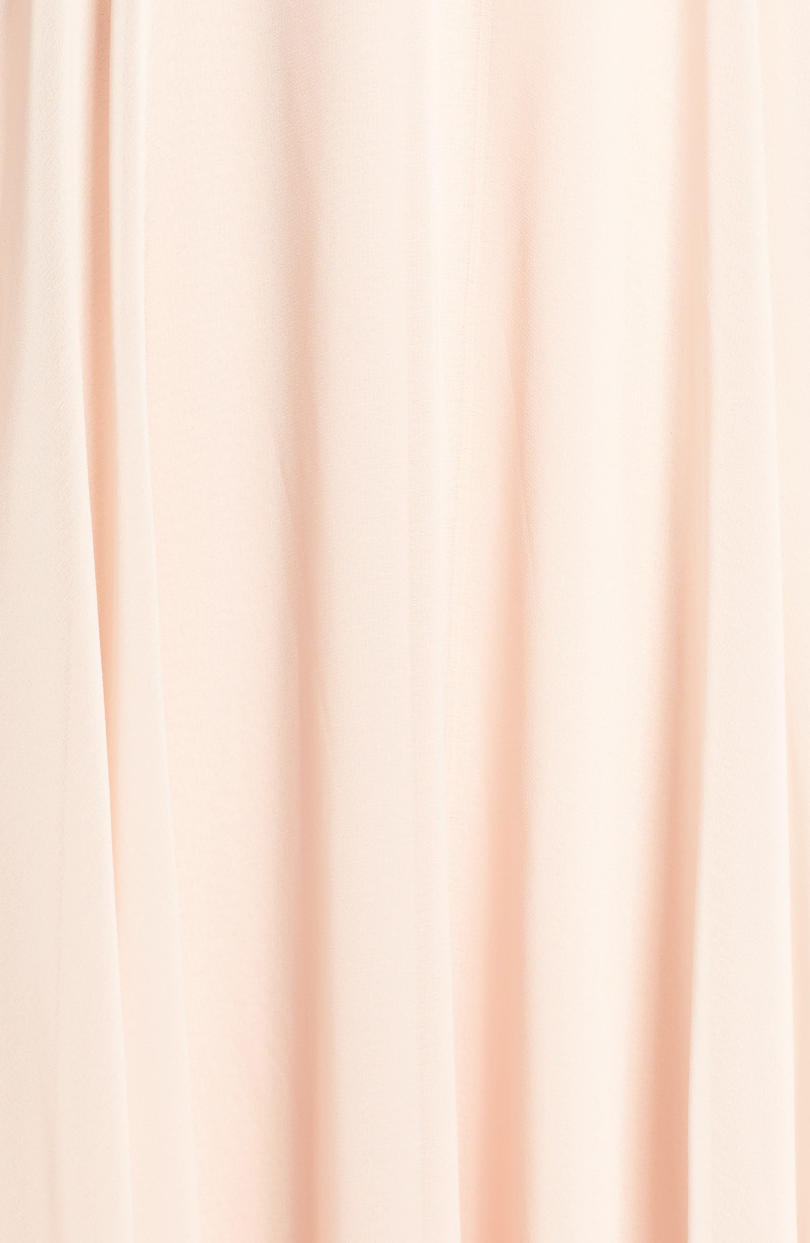 Surplice Chiffon Gown,                             Alternate thumbnail 7, color,                             BLUSH