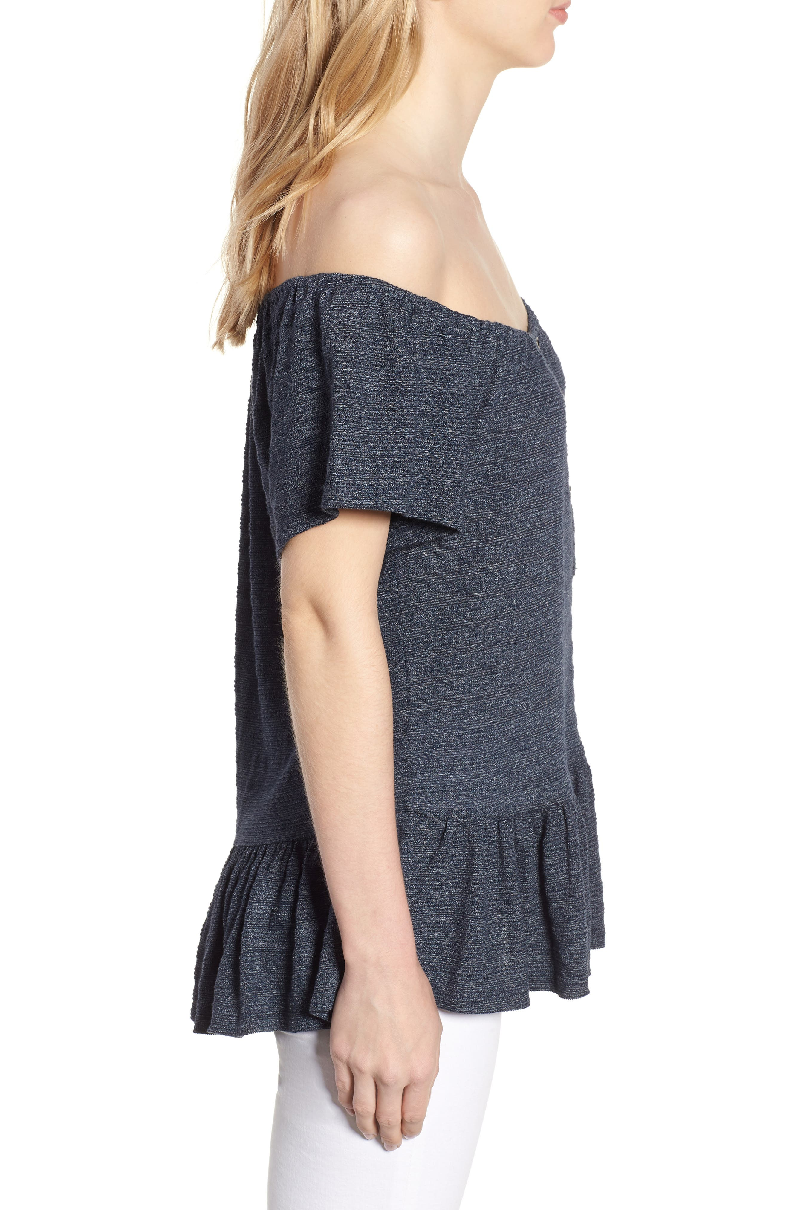 Off The Shoulder Top,                             Alternate thumbnail 3, color,                             400
